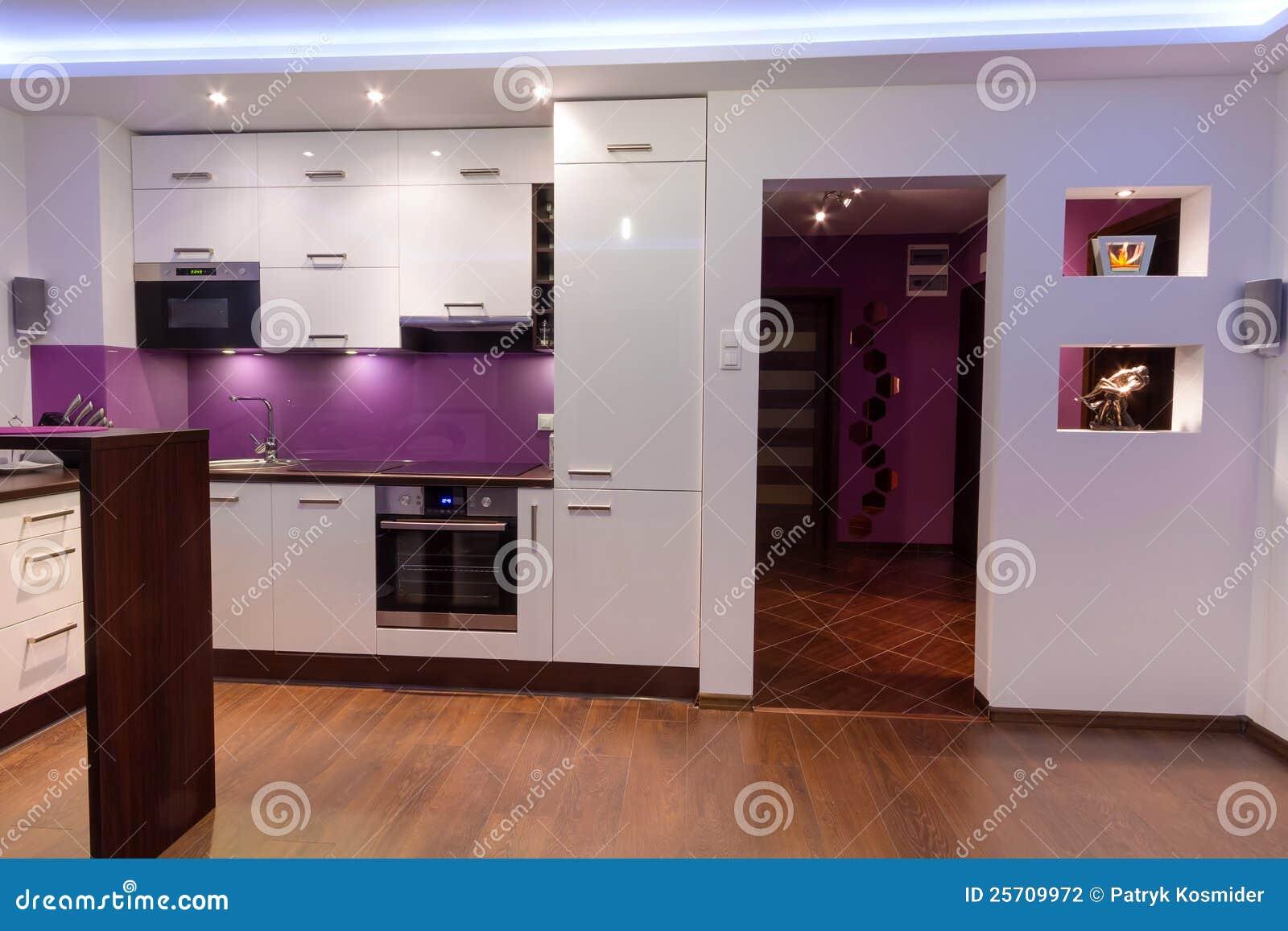 cucina e salone moderni del condominio fotografia stock - immagine ... - Salone Cucina