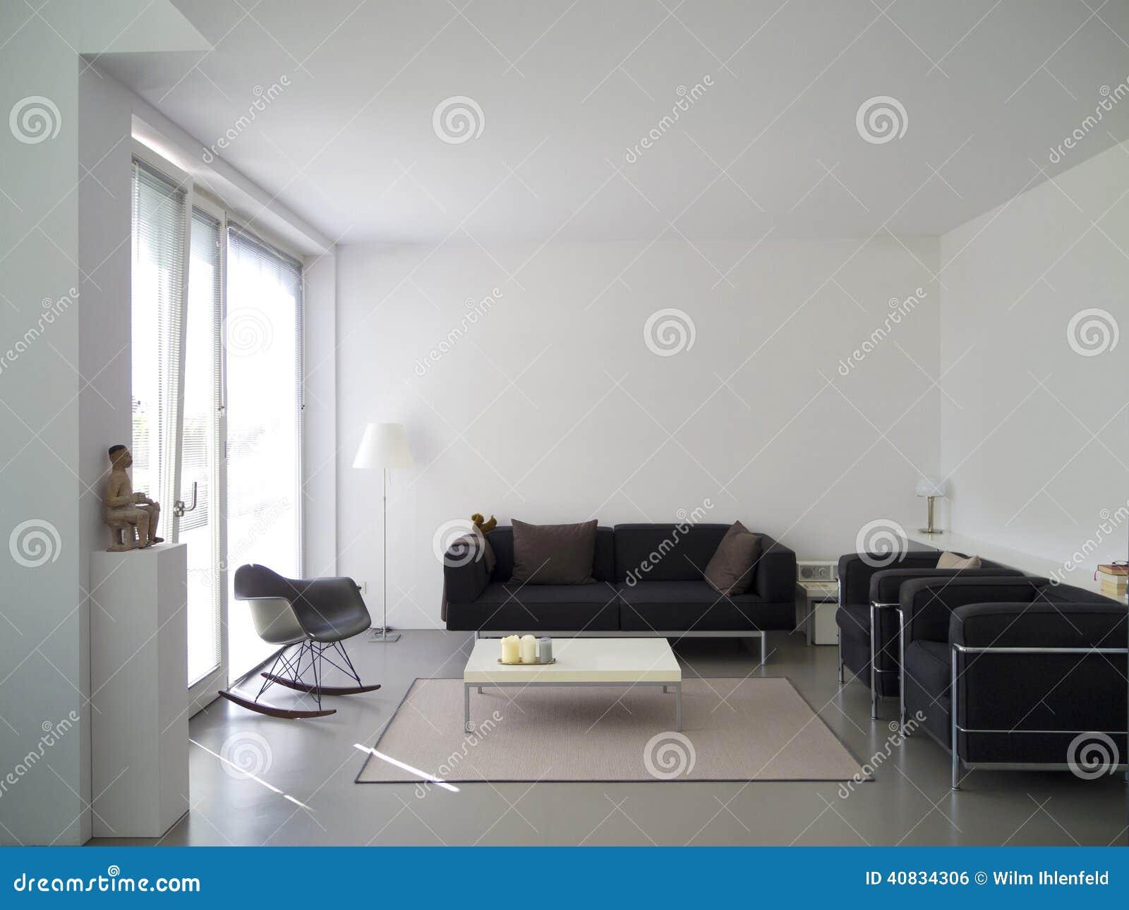 Salone moderno con lo spazio della copia