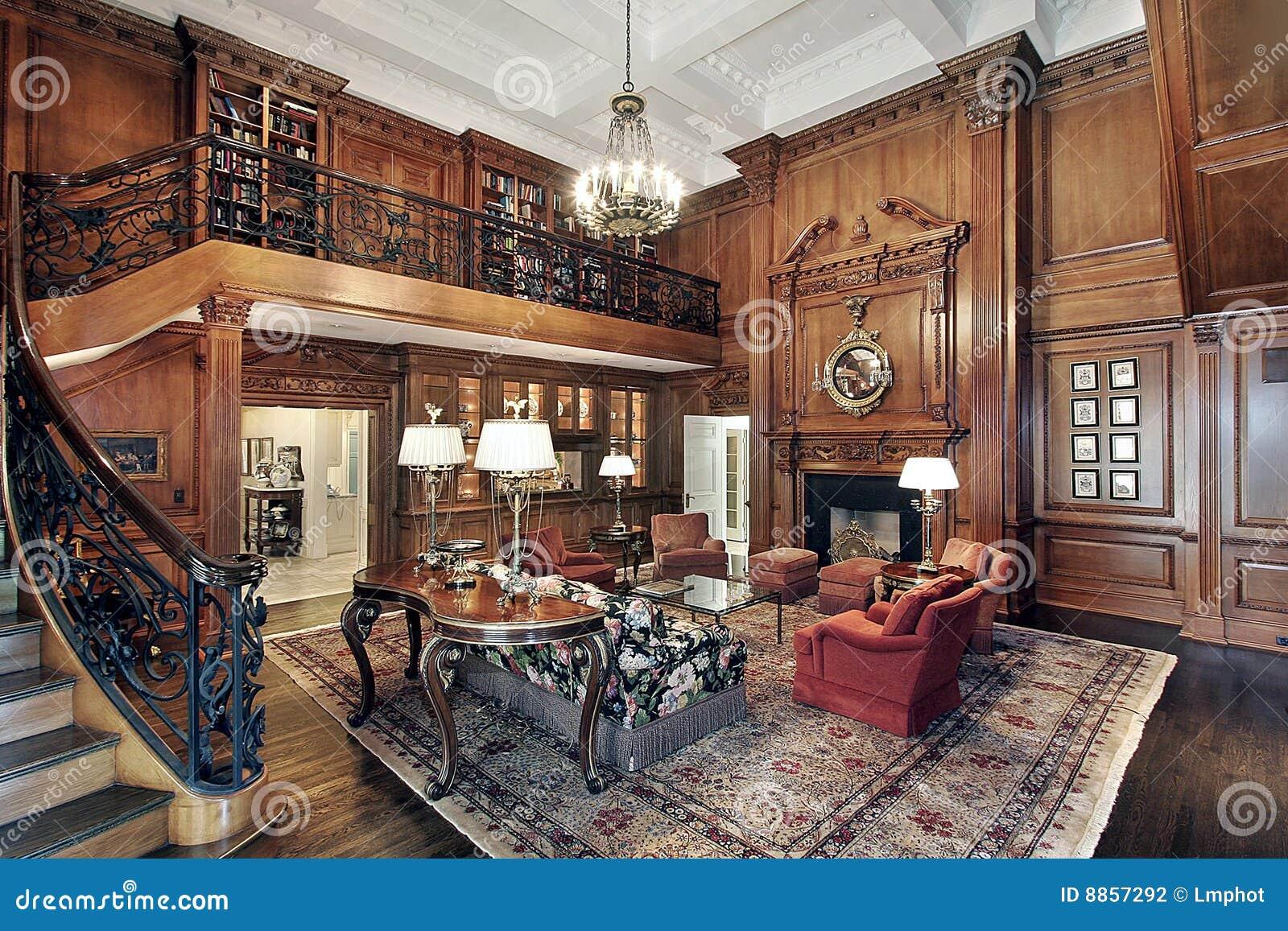 Salone nella casa di lusso fotografia stock immagine di for Casa lusso