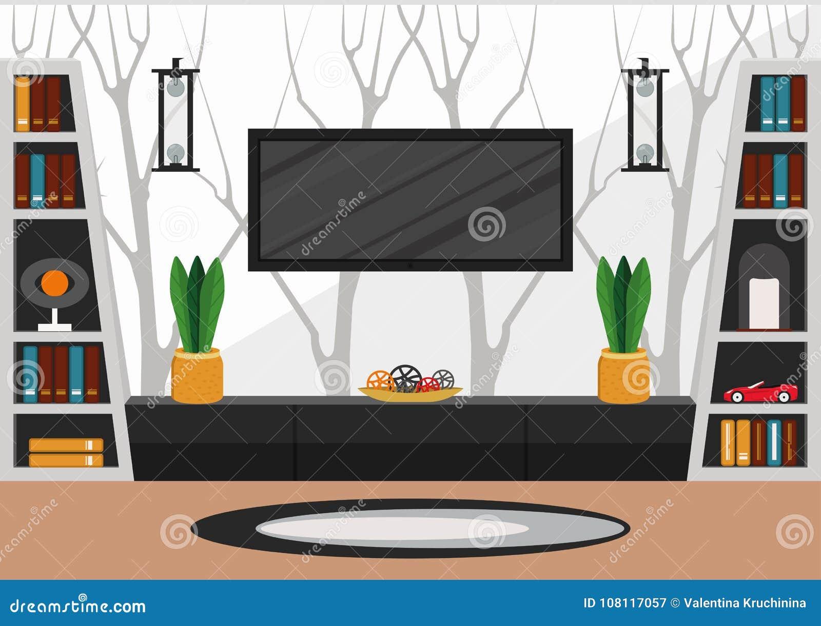 Salone nello stile minimalista
