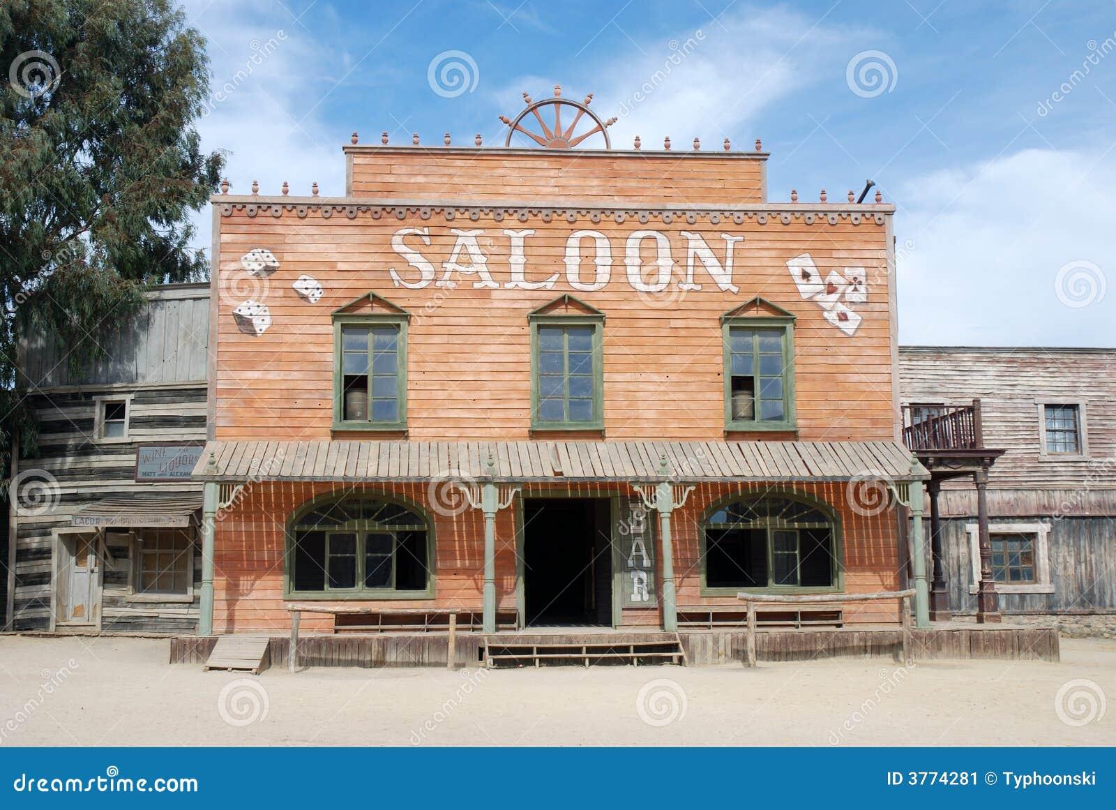 Salone in una vecchia città americana
