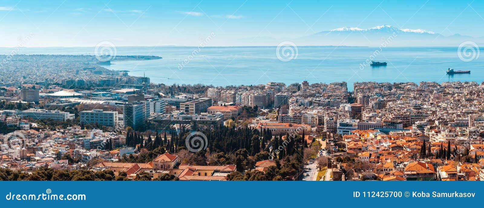 10 03 2018 Salonique, Grèce - vue panoramique de Salonique