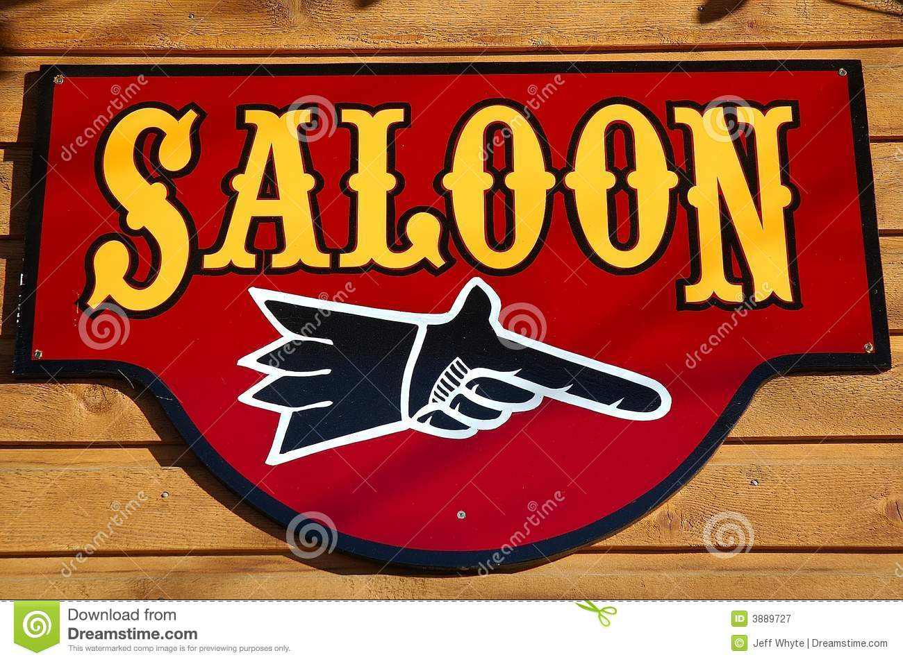 Wild West Outlaw Saloon Sign Royalty Fr...