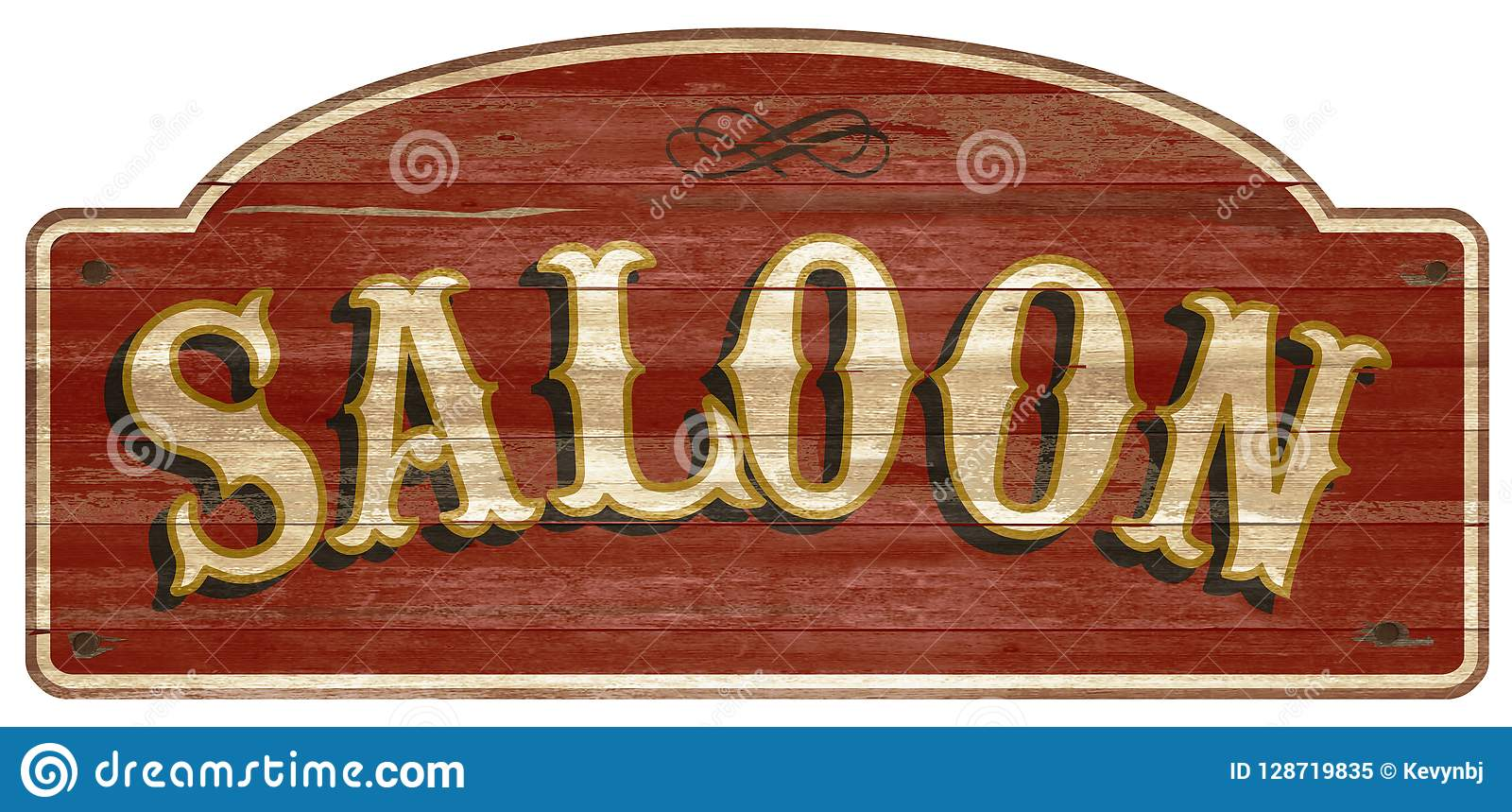 Saloon Wooden Sign Vintage Retro Old West