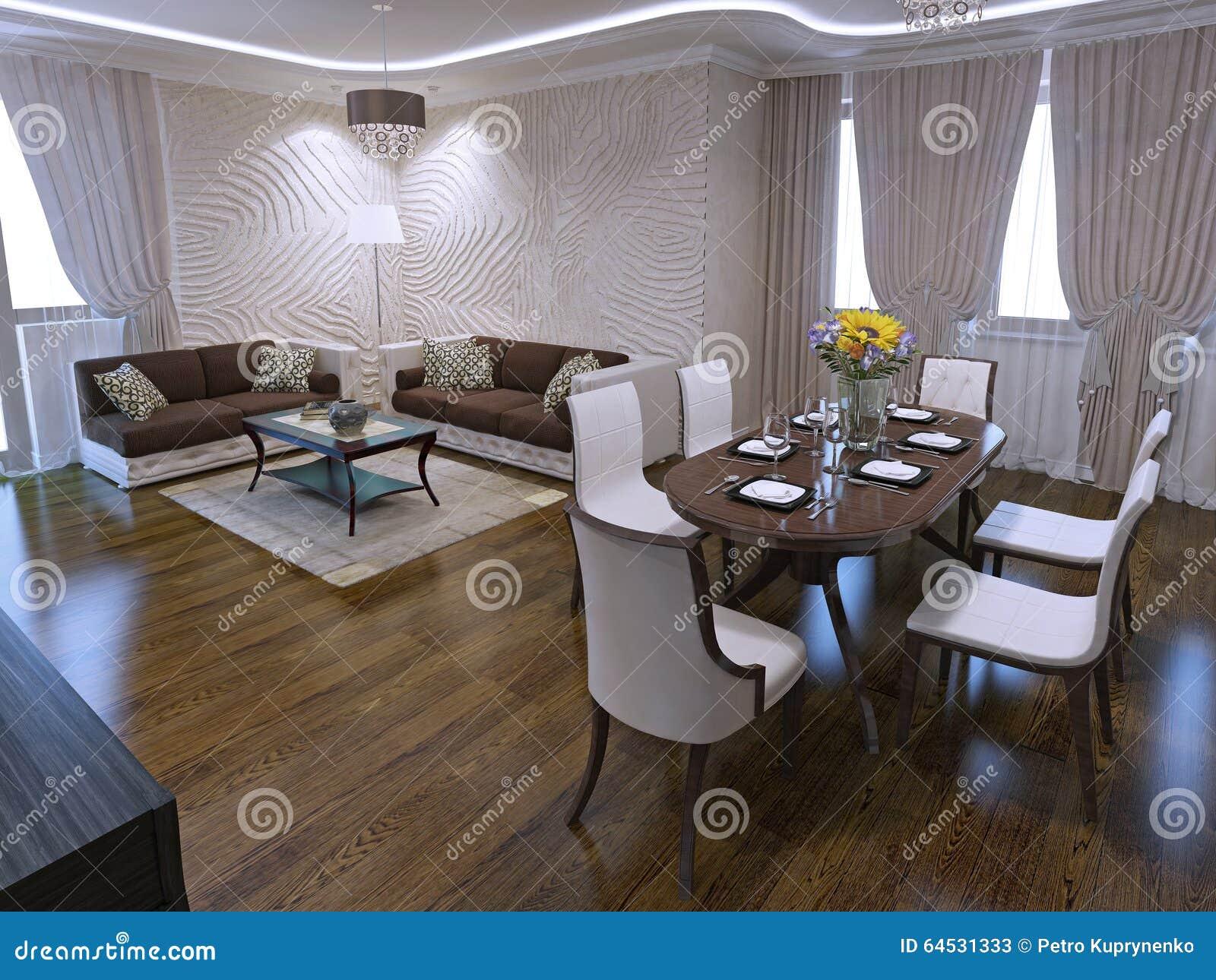Tavolo Pranzo Art Deco salotto con il tavolo da pranzo nella progettazione di art