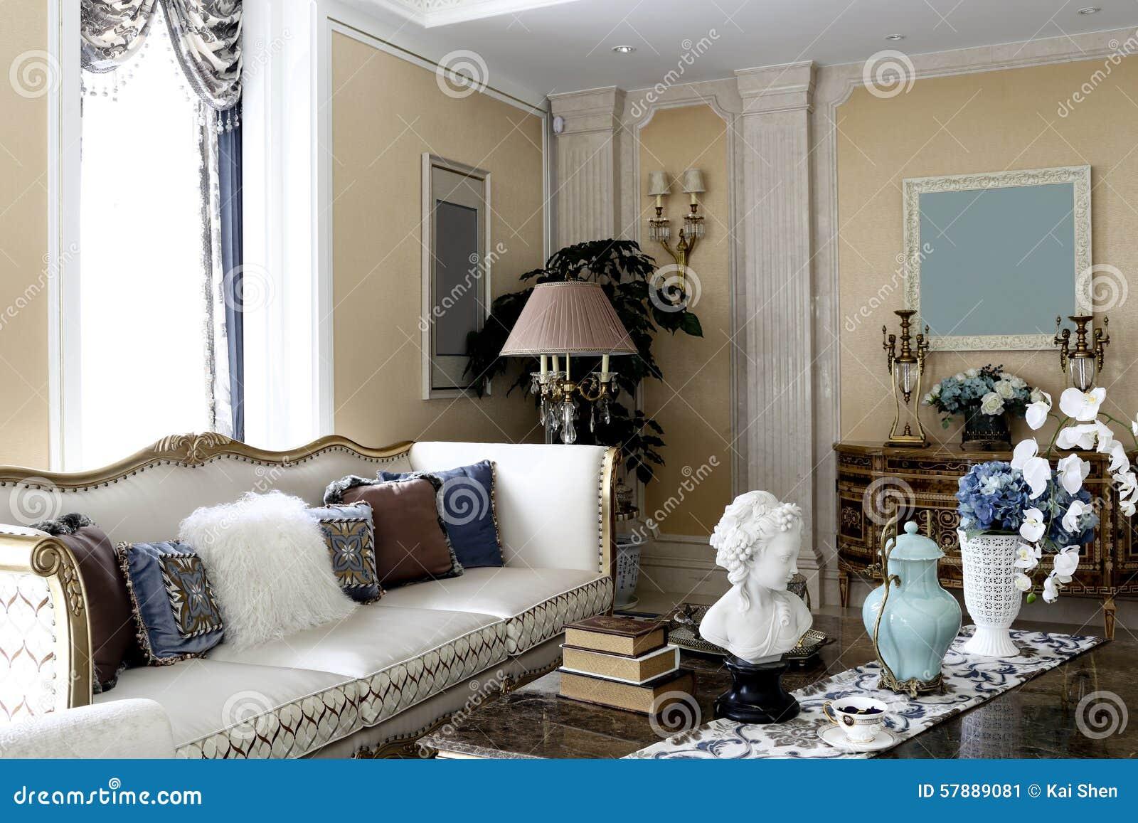 Salotto elegante comodo della famiglia immagine stock for Salotto elegante