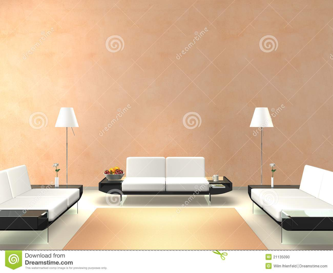 Parete Cucina Colorata : Salmon Colored Walls