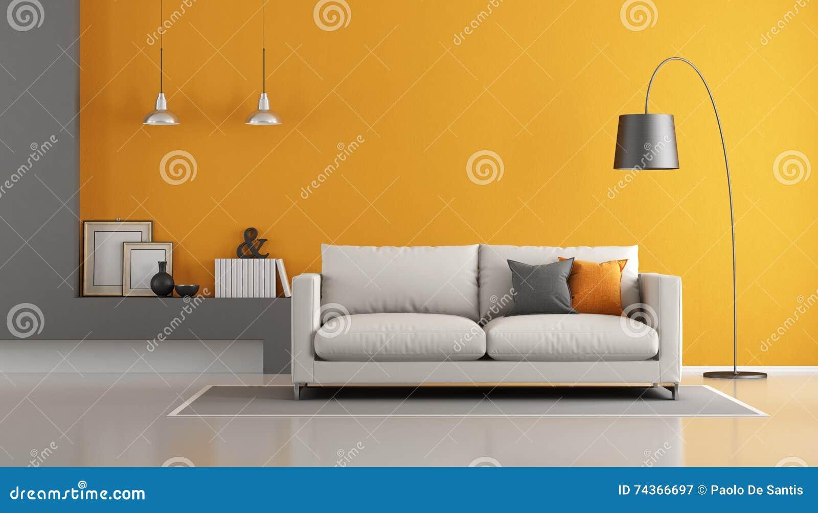 Salotto Moderno Grigio : Salotto moderno marrone e grigio u foto stock archideaphoto