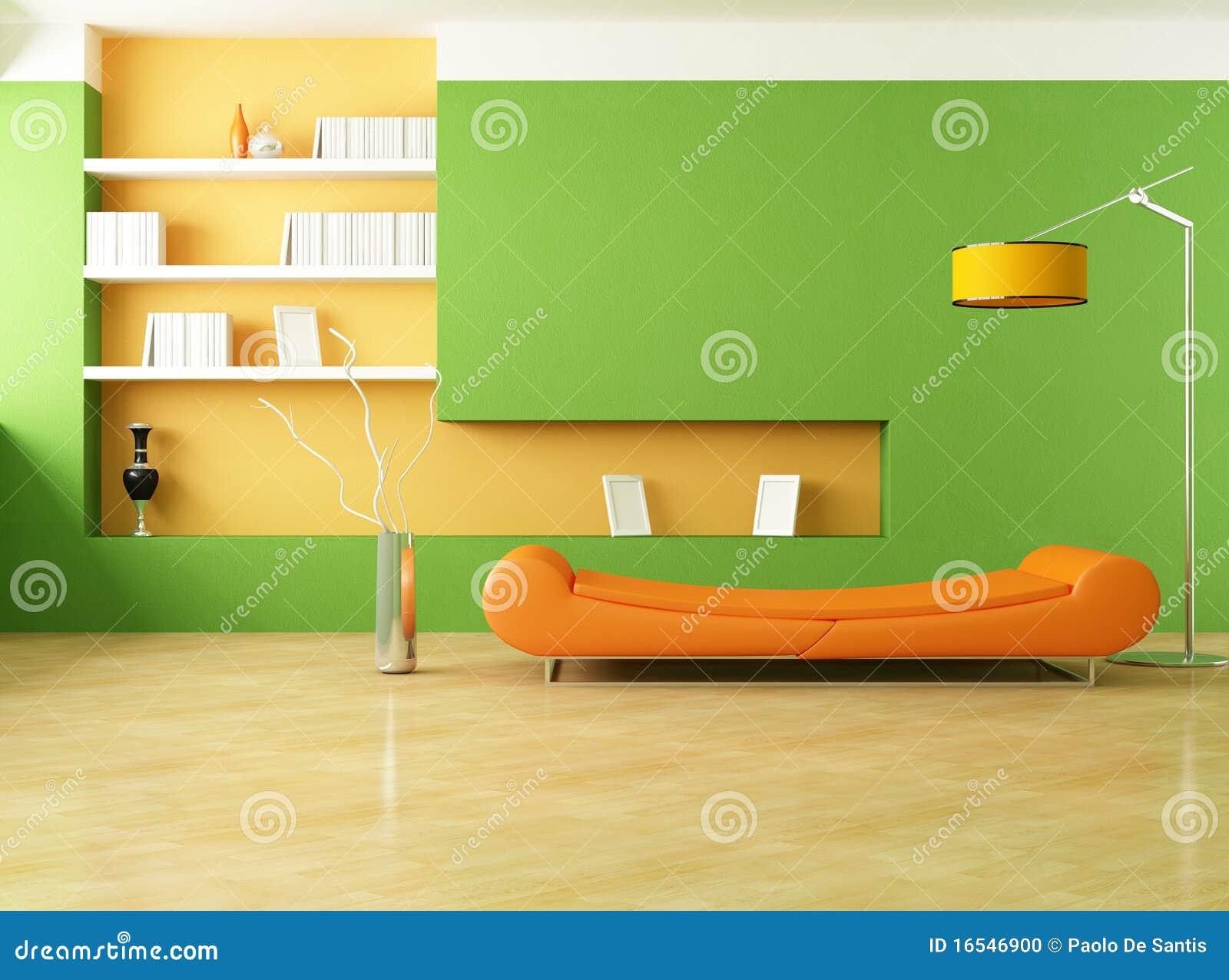 Salotto Moderno Verde : Salotto verde ed arancione illustrazione di stock illustrazione