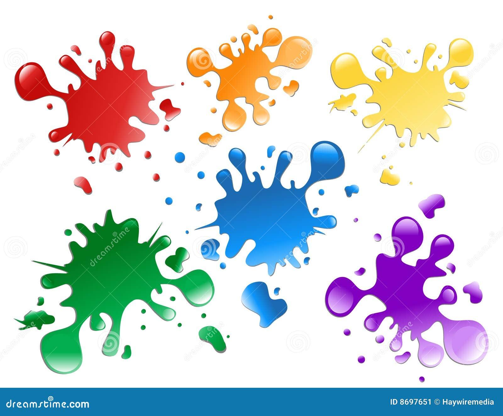 Salpicaduras coloridas de la pintura imagen de archivo imagen 8697651 - Salpicaduras de pintura ...