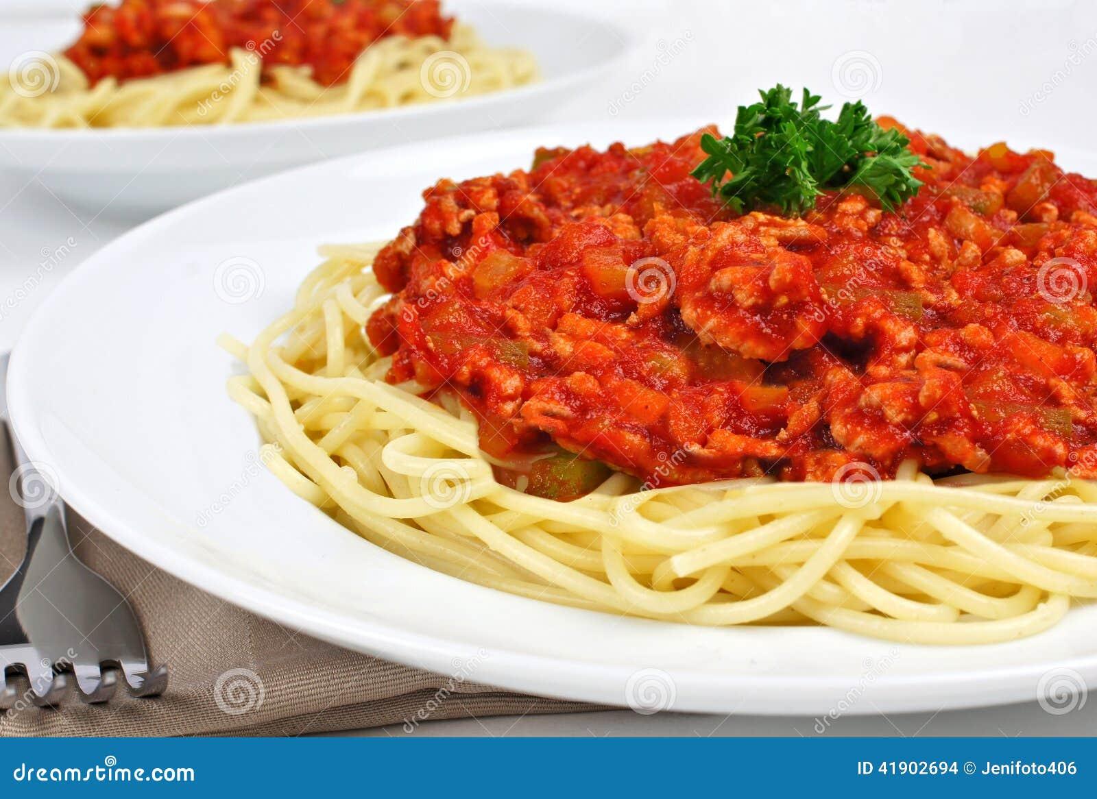 Salsa de los espaguetis y de la carne