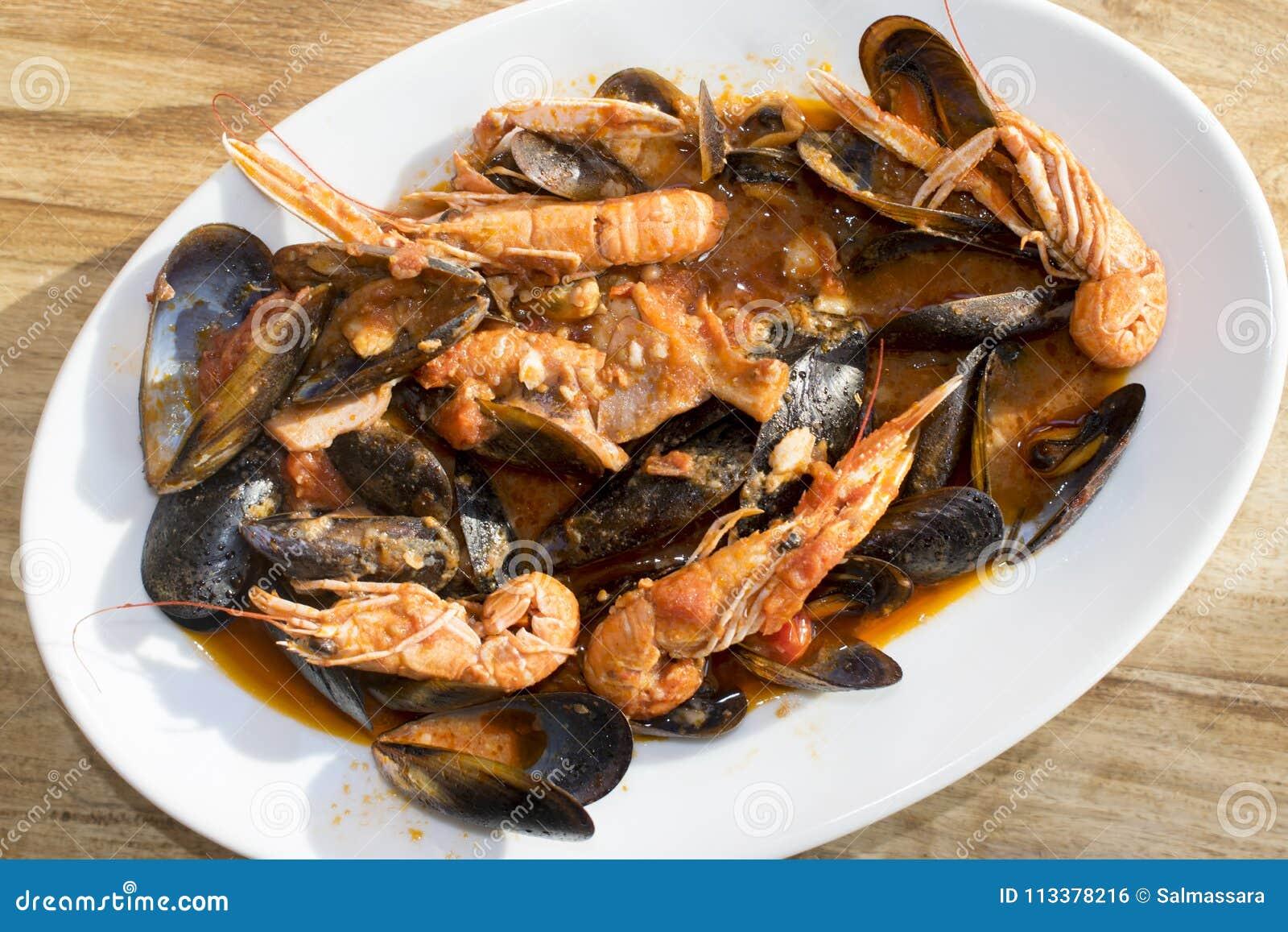 salsa con mariscos para pastas