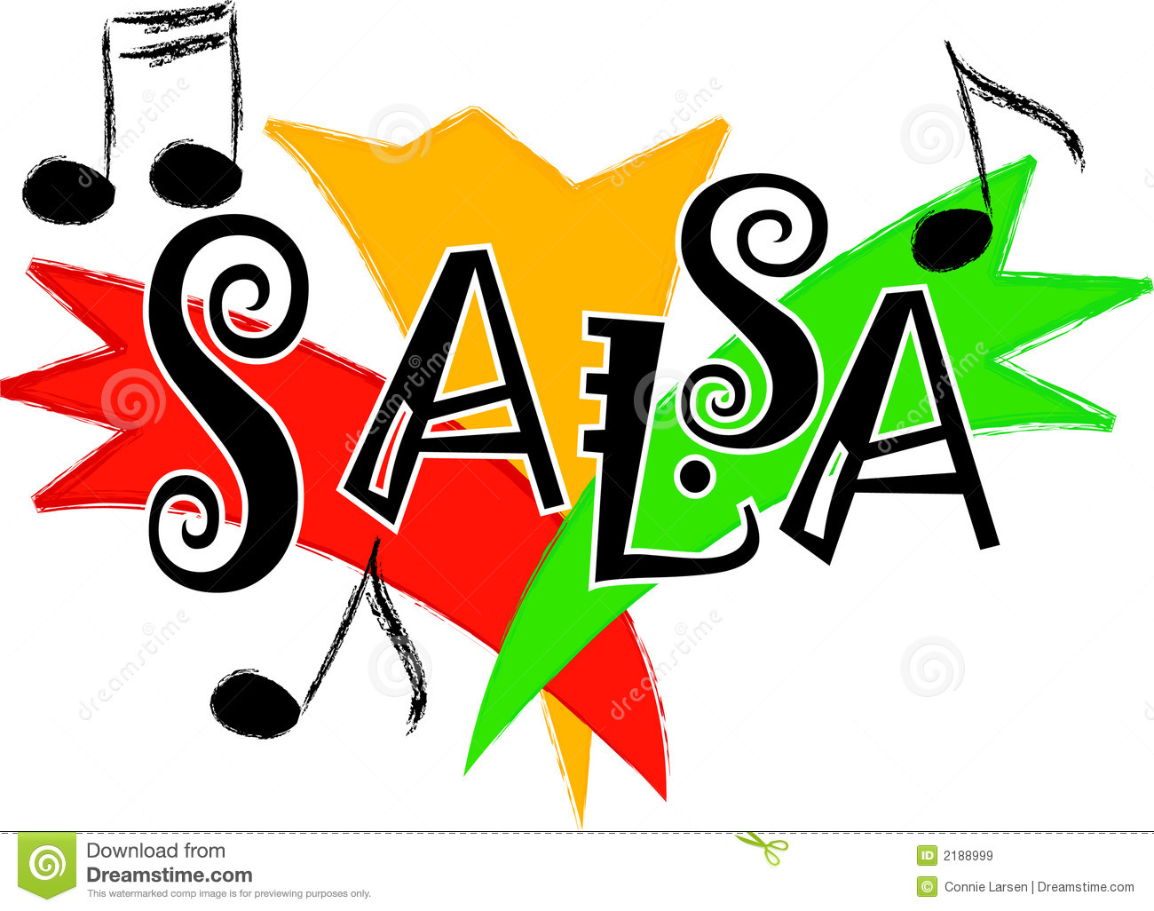 Salsa music/eps stock vector. Image of clip, title, note ...