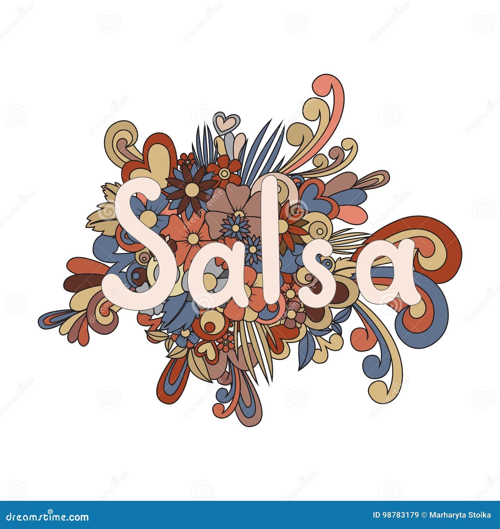 Coloriage Danseuse Salsa.Salsa Zen Tangle Illustration De Vecteur Illustration Du Fille