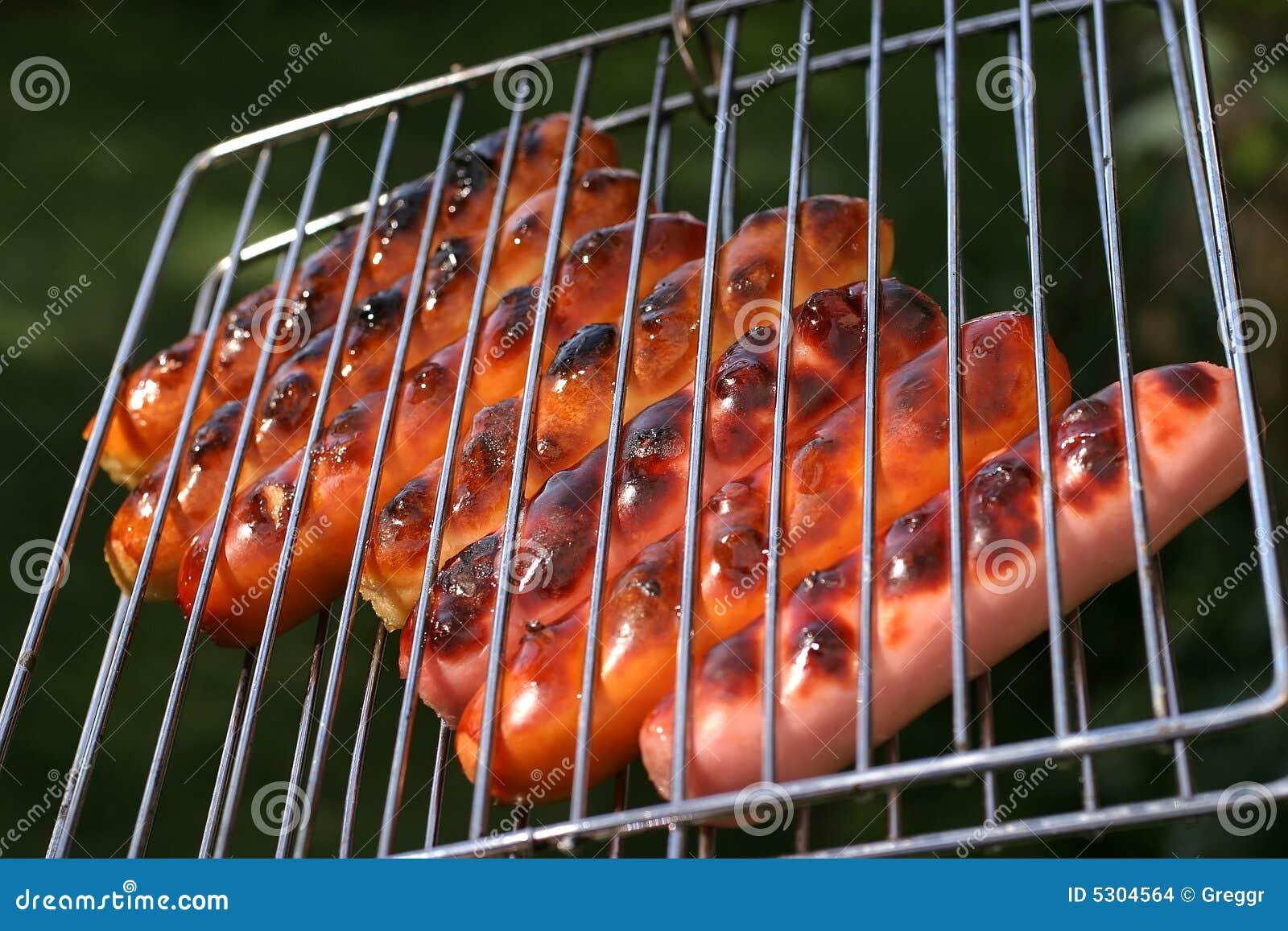 Download Salsiccie Del Pollo E Del Manzo Di Arrosto Sulla Griglia Fotografia Stock - Immagine di saporito, cucinato: 5304564