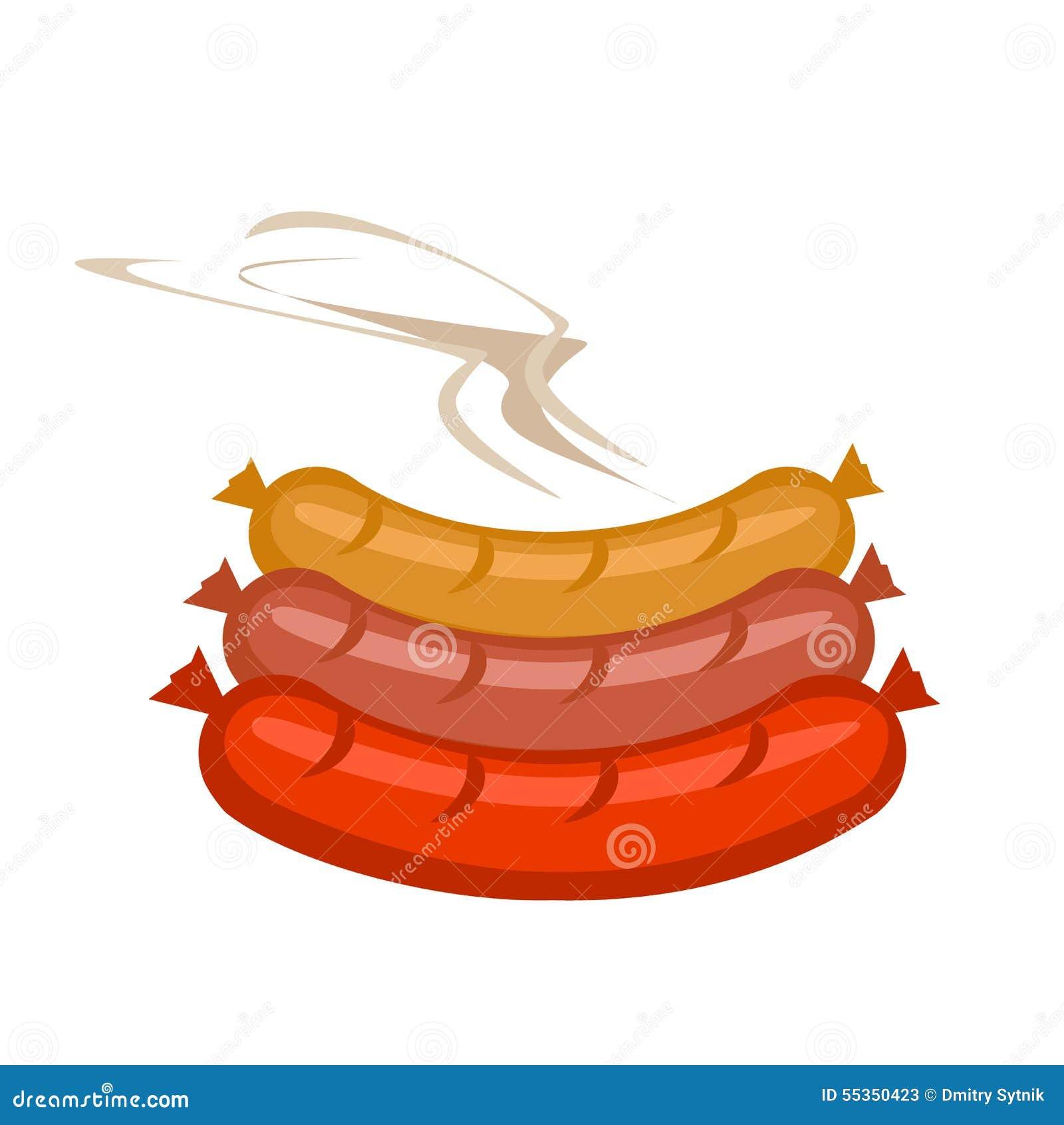 Salsiccie di vettore a colori