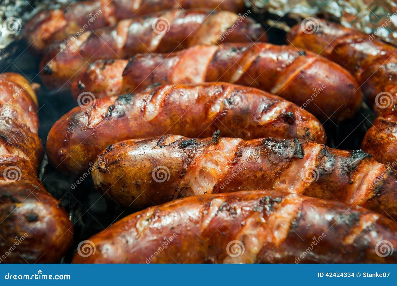 Salsiccie sulla griglia