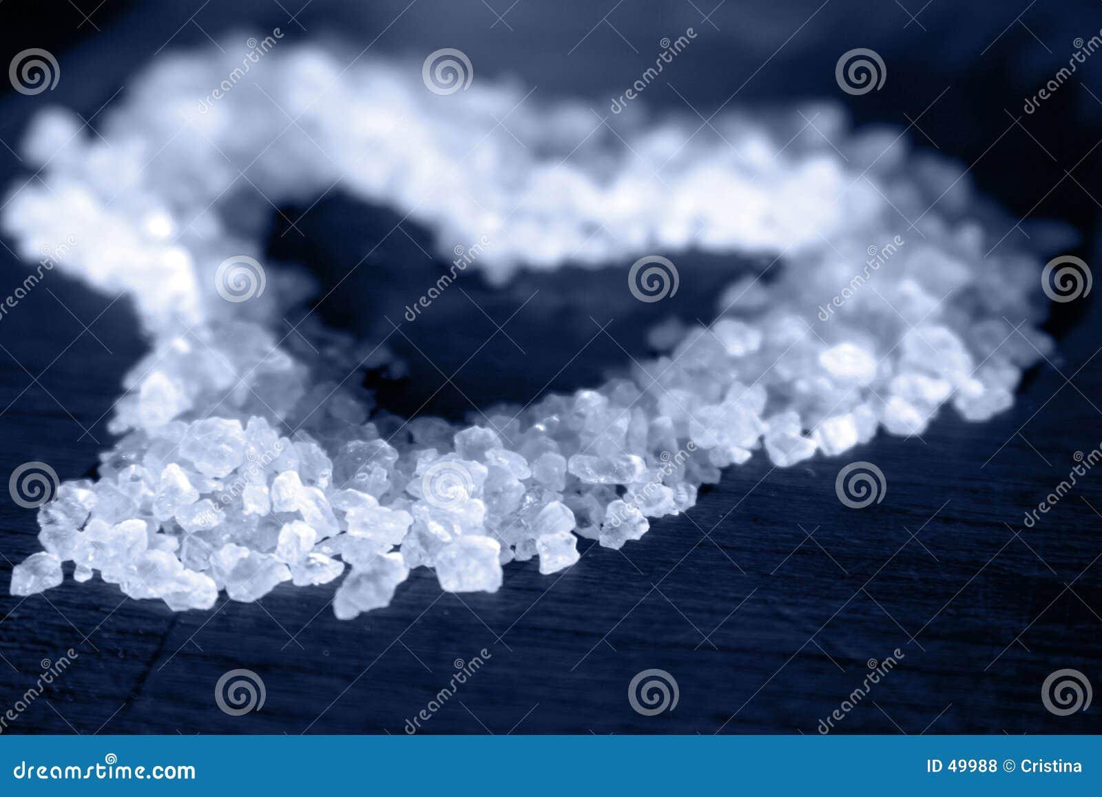 Salt blå hjärta