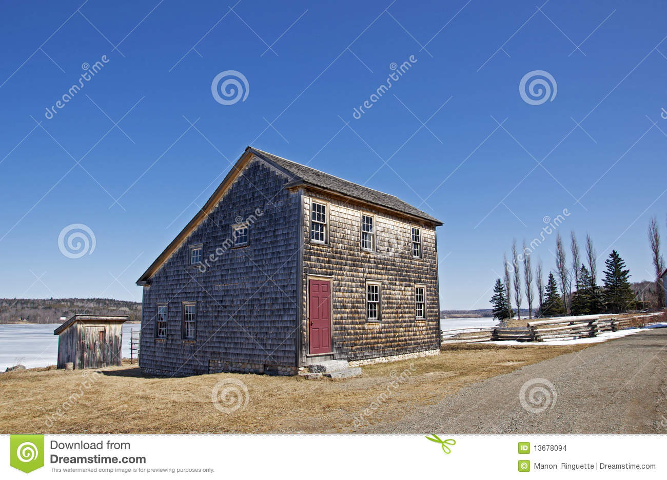 Salt Box Architecture Stock Photo Image Of Sloping Coast