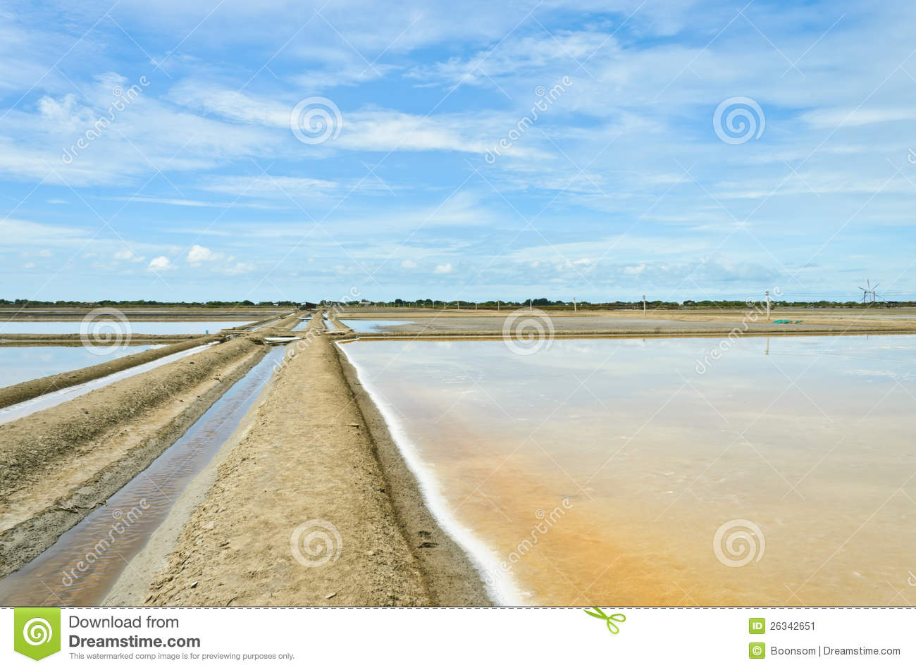 Salt evaporation pond against blue sky stock image image for Design of evaporation pond
