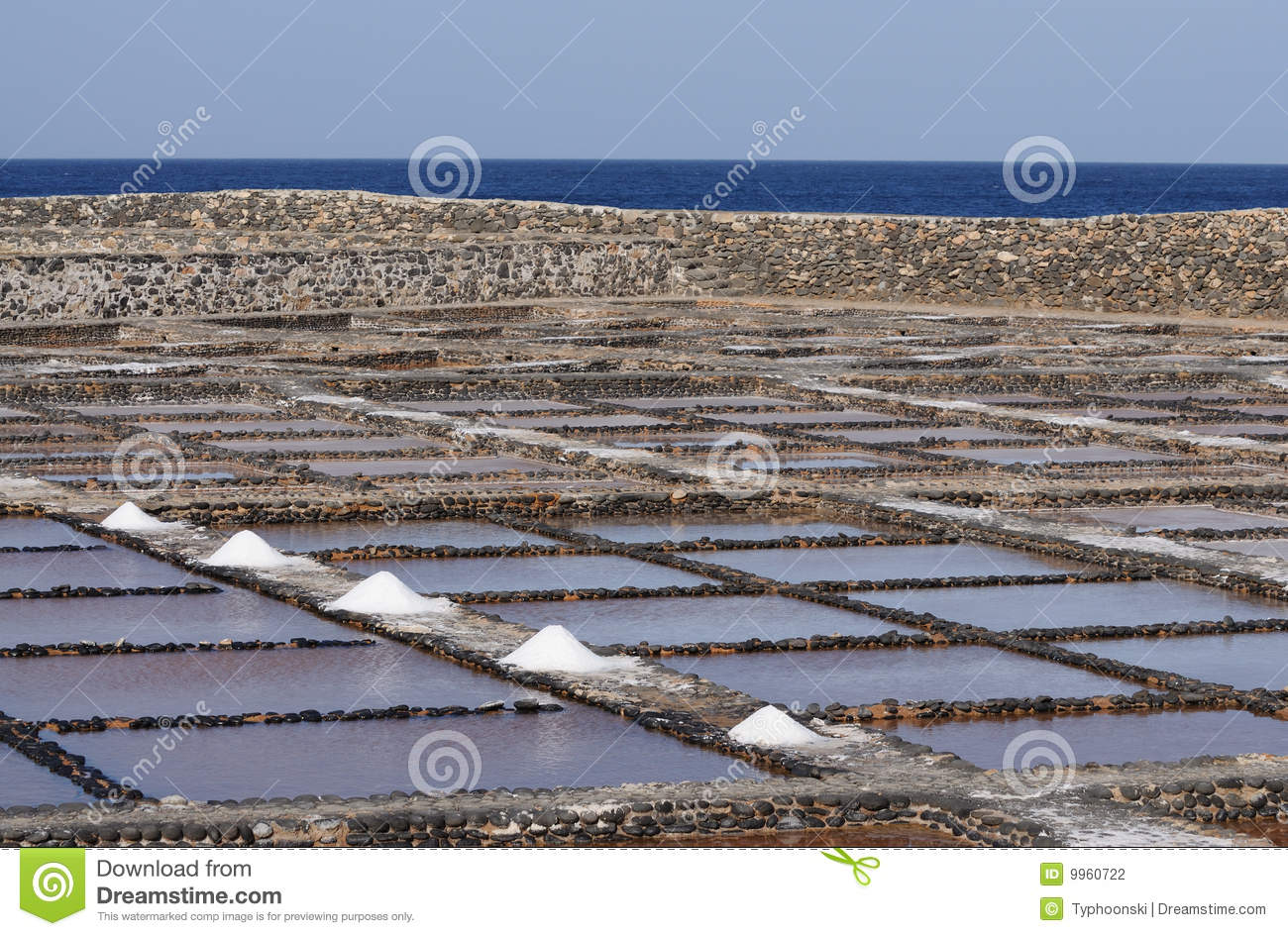 Salt evaporation ponds fuerteventura spain stock for Design of evaporation pond