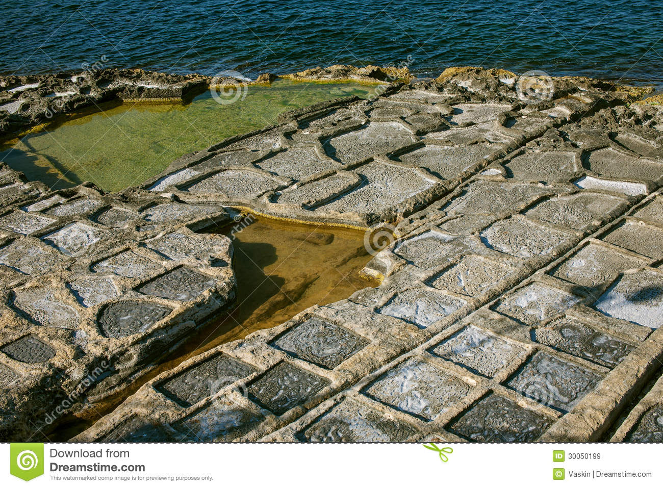 Salt evaporation ponds malta royalty free stock images for Design of evaporation pond
