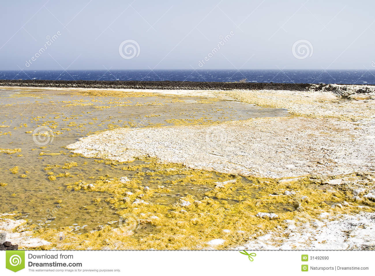Salt evaporation ponds stock photo image 31492690 for Design of evaporation pond