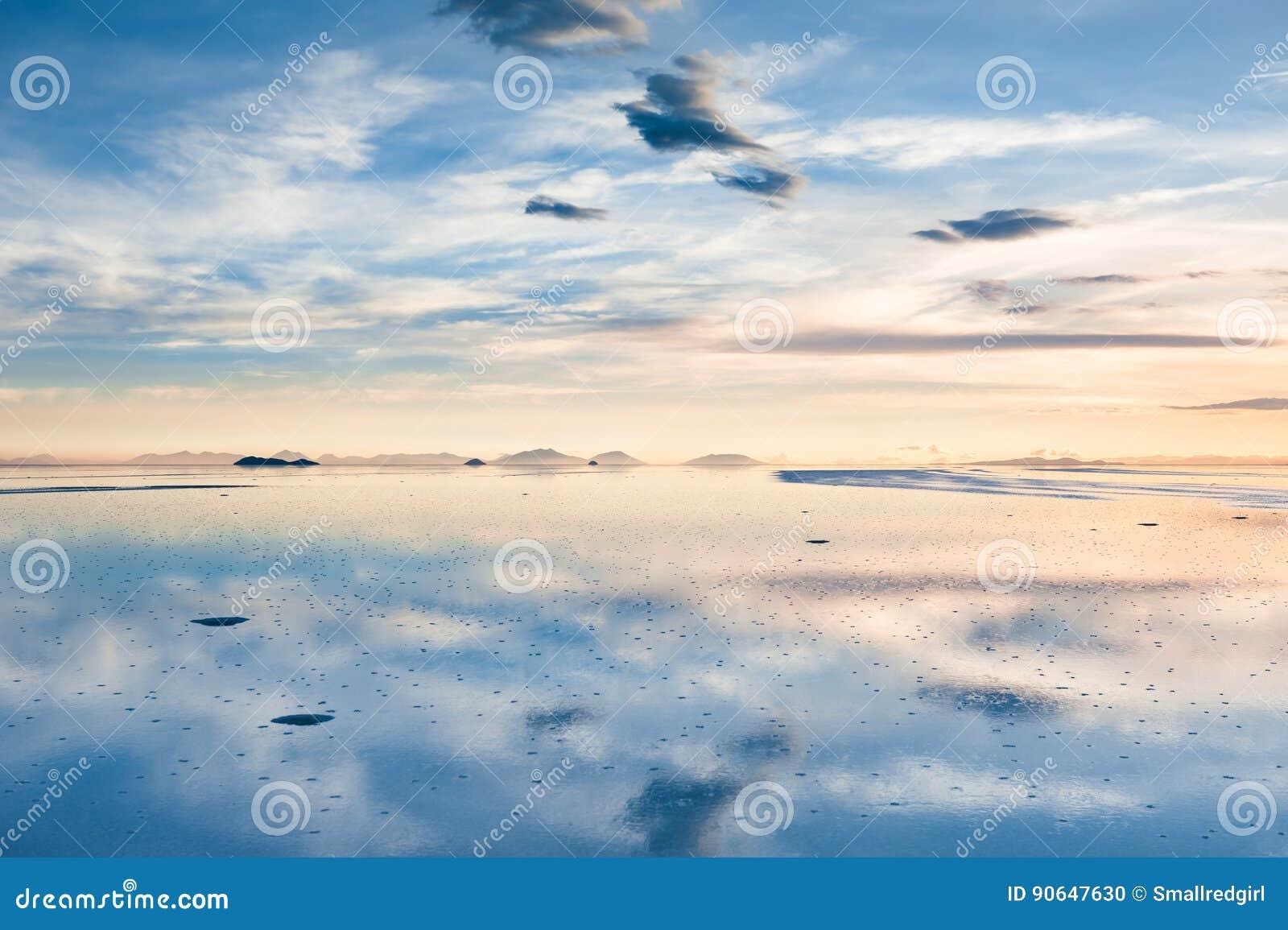 Salt Flat Salar De Uyuni Altiplano Bolivia Stock Photo