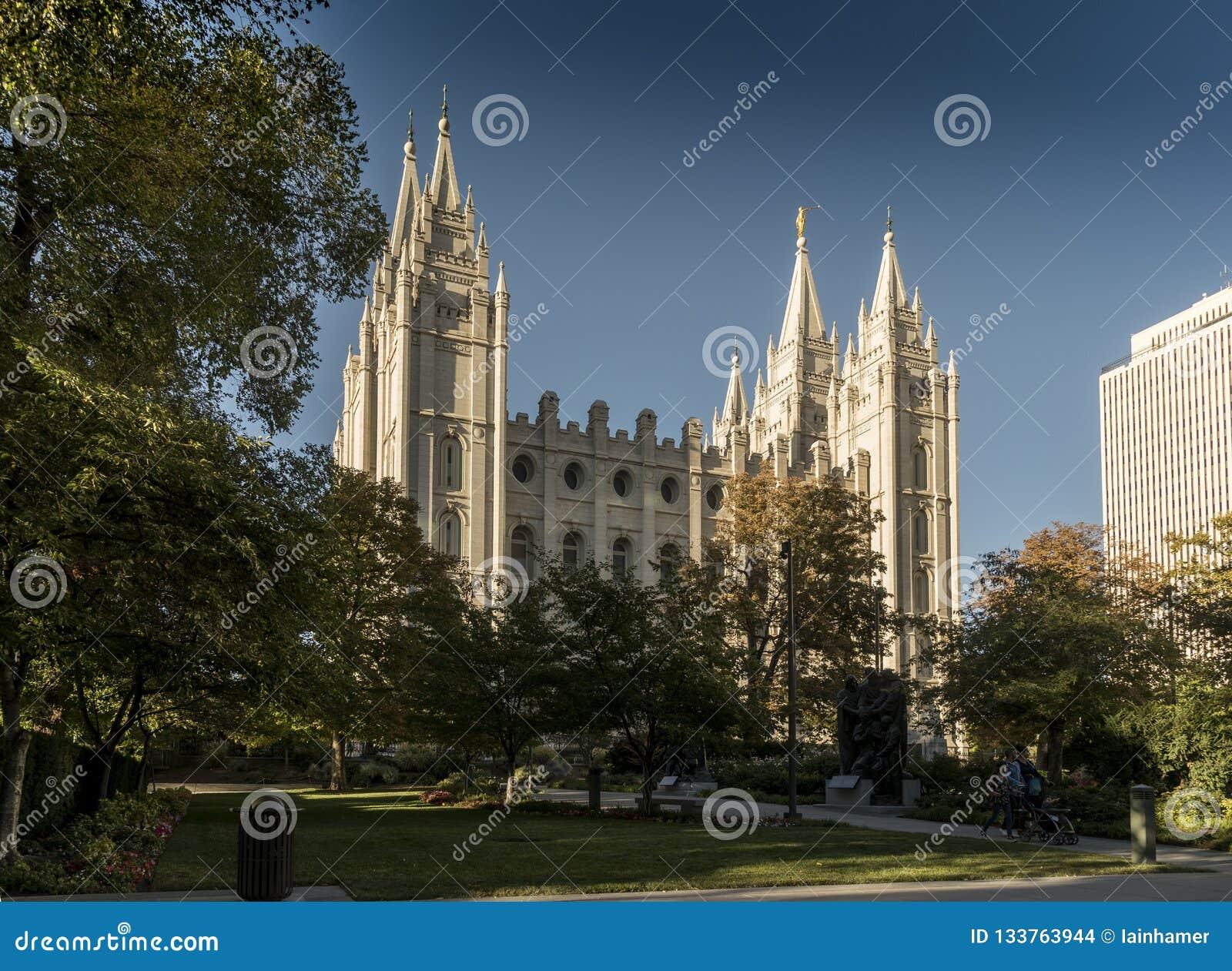 Mormon Temple, Temple Square, Salt Lake CIty Stock Photo - Image of