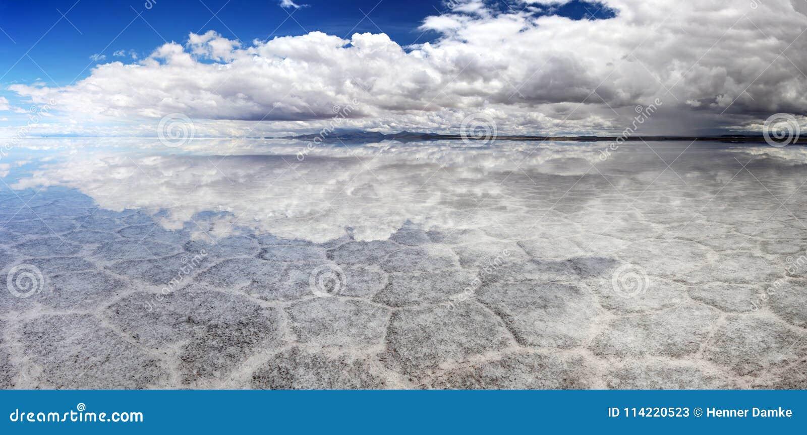 Salt Lake Uyuni Bolívia - panorama