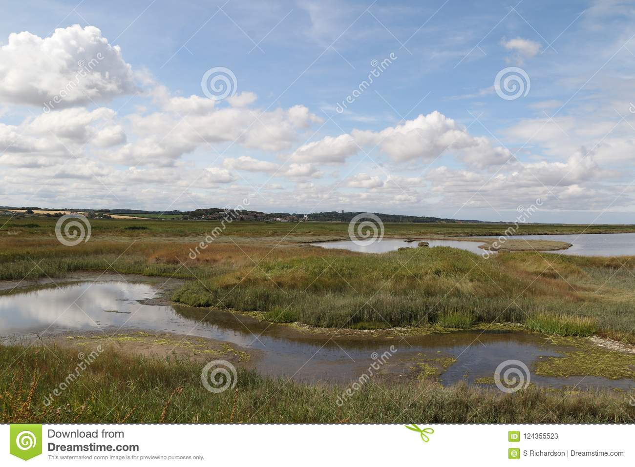 Salt marshes at Cley