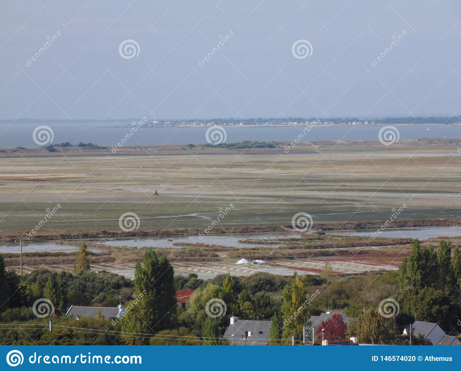The salt marshes of Croisic in France