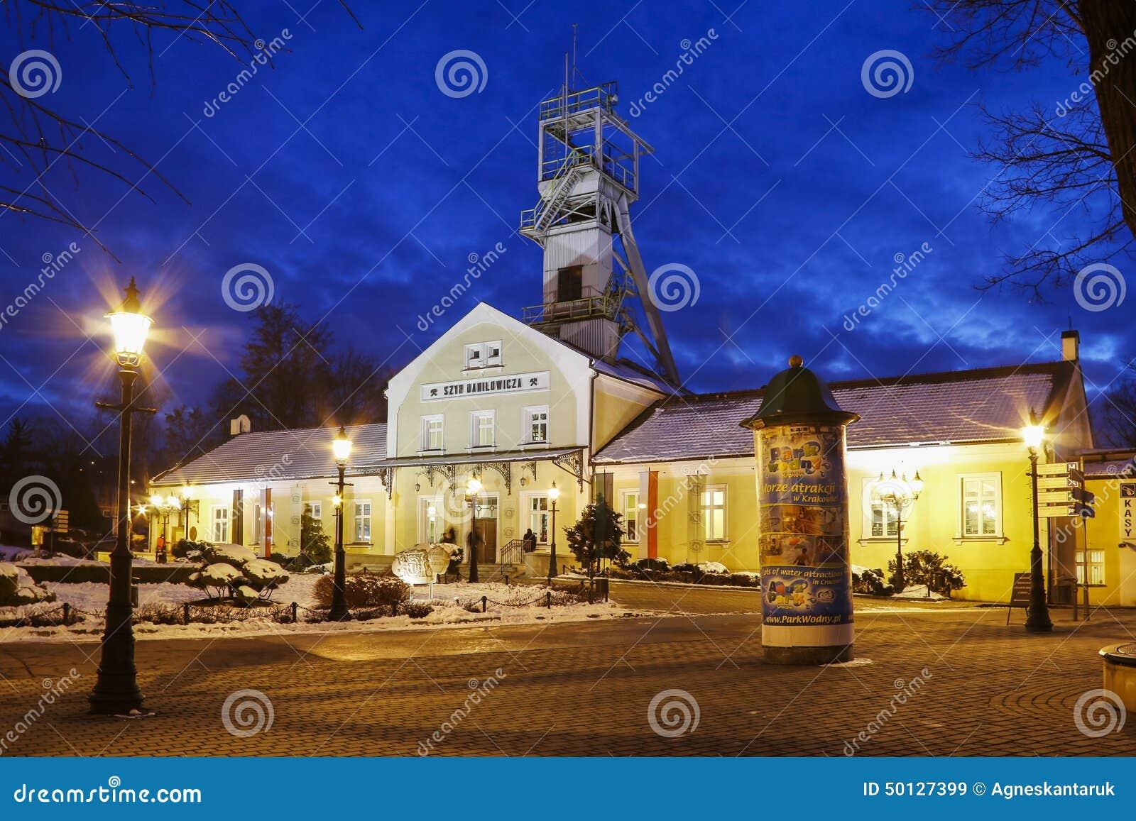 Salt min och den historiska Regis Shaft, Wieliczka, Polen