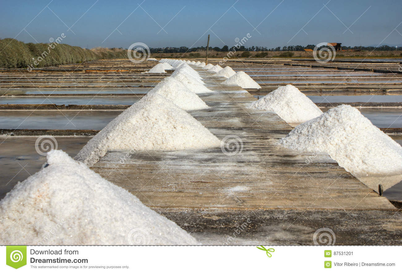 Salt pans on a saline exploration