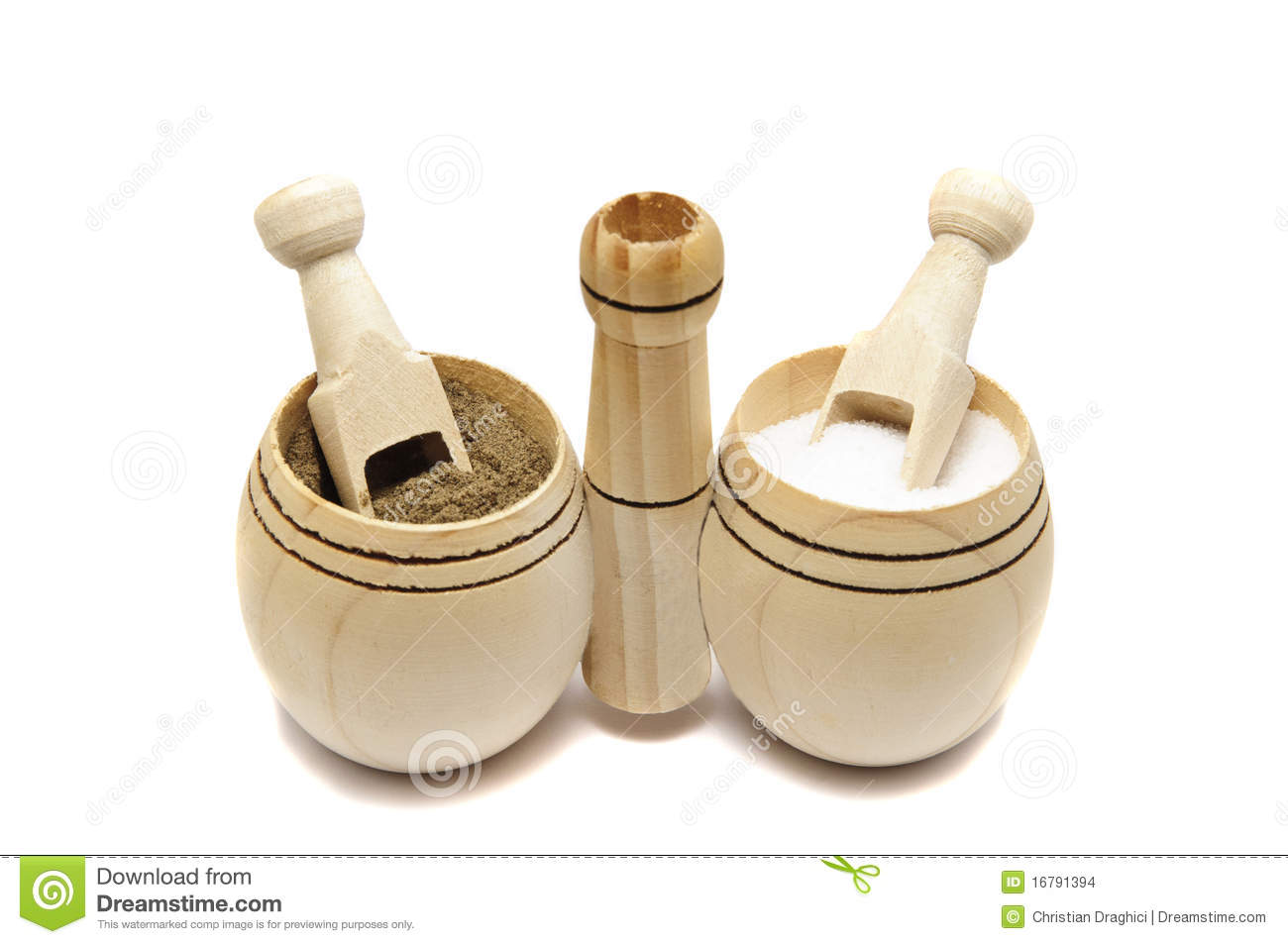 Salt And Pepper Stock Photo Image Of Brown White Wooden