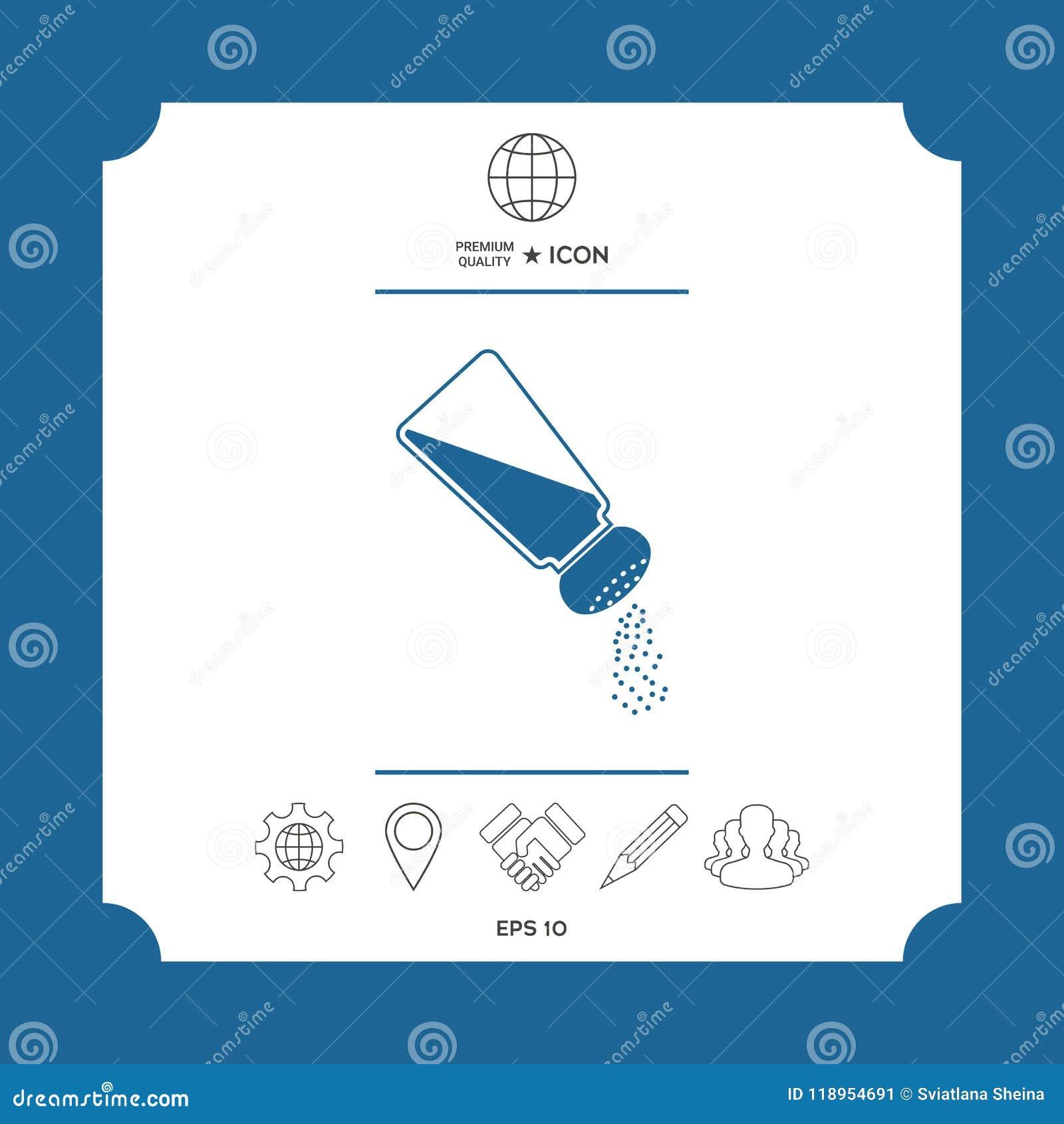 Salt Or Pepper Shaker Stock Vector Illustration Of Kitchen 118954691