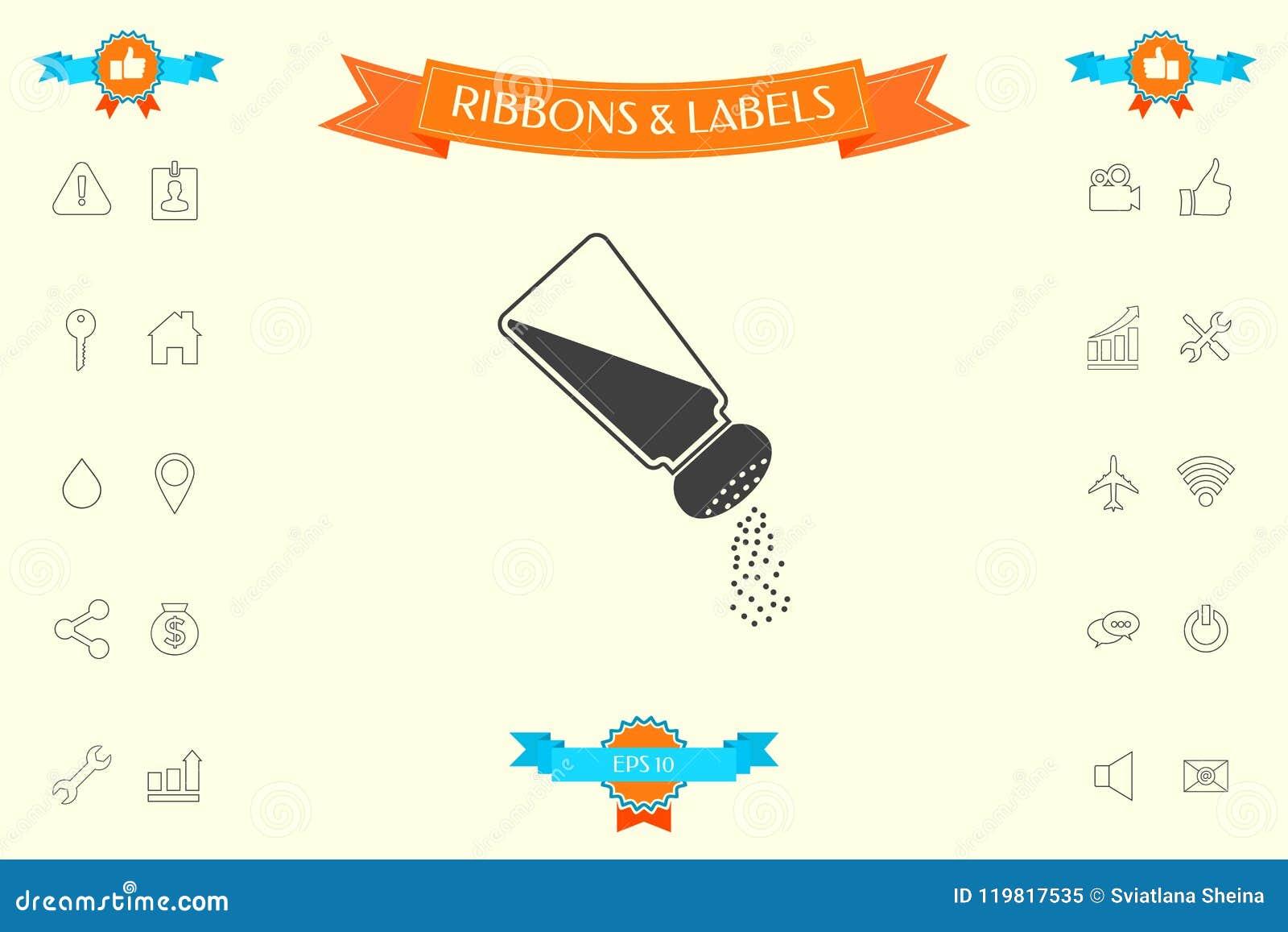 Salt Or Pepper Shaker Stock Vector Illustration Of Object 119817535