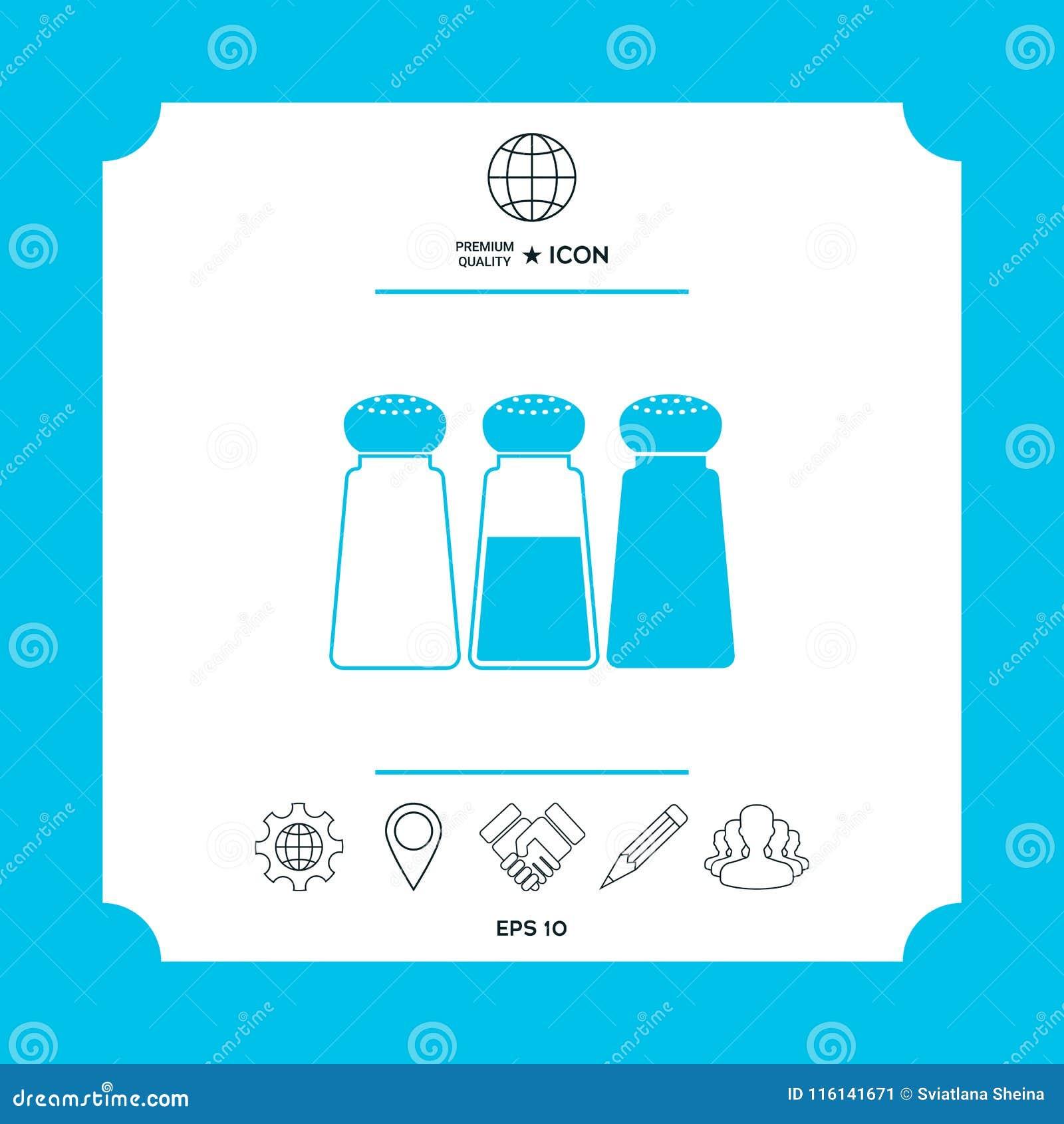 Salt Or Pepper Shakers Set Stock Vector Illustration Of Salted