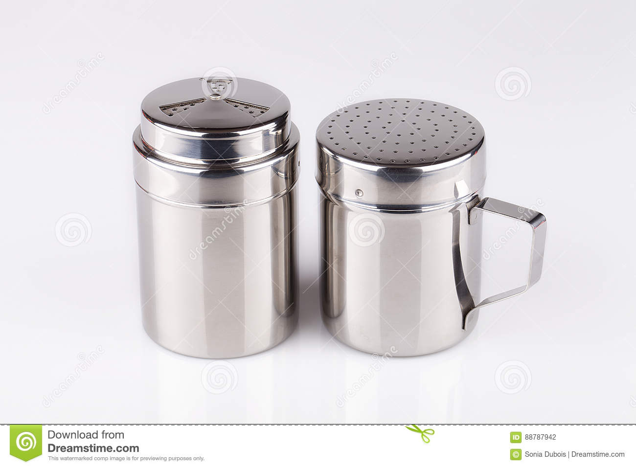 Salt And Pepper Shakers Stock Photo Image Of White Kitchen 88787942