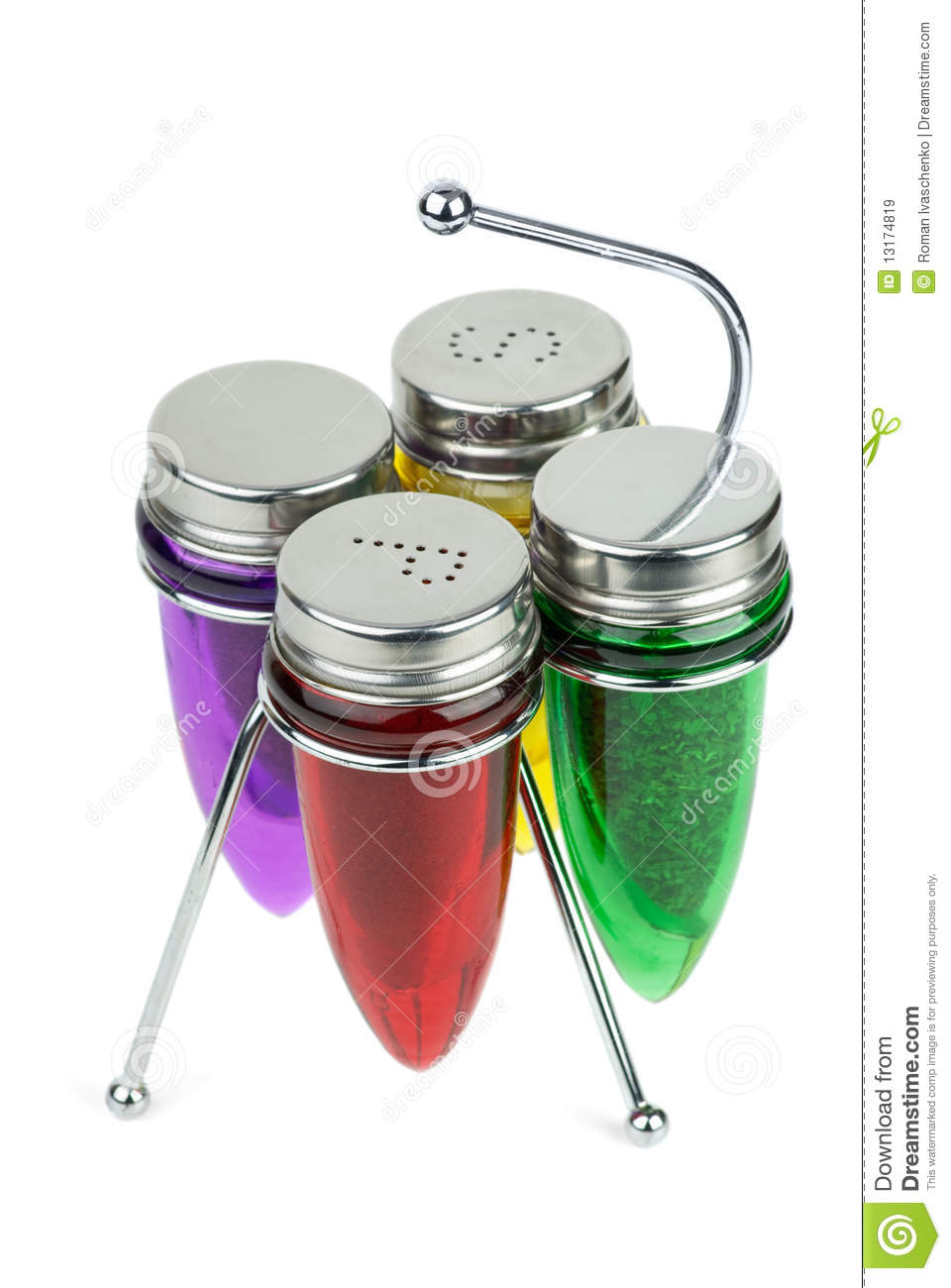 Salt Pepper Shakers And Spice Containers Royalty Free