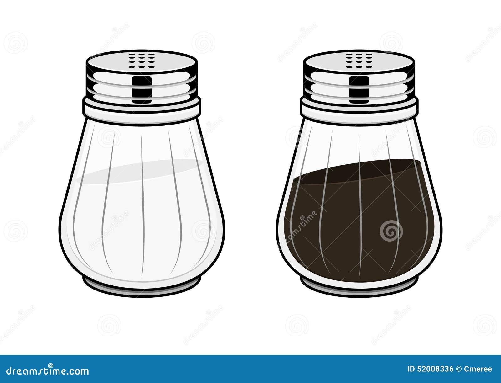 Salt Pot And Pepper Pot Stock Vector Image 52008336
