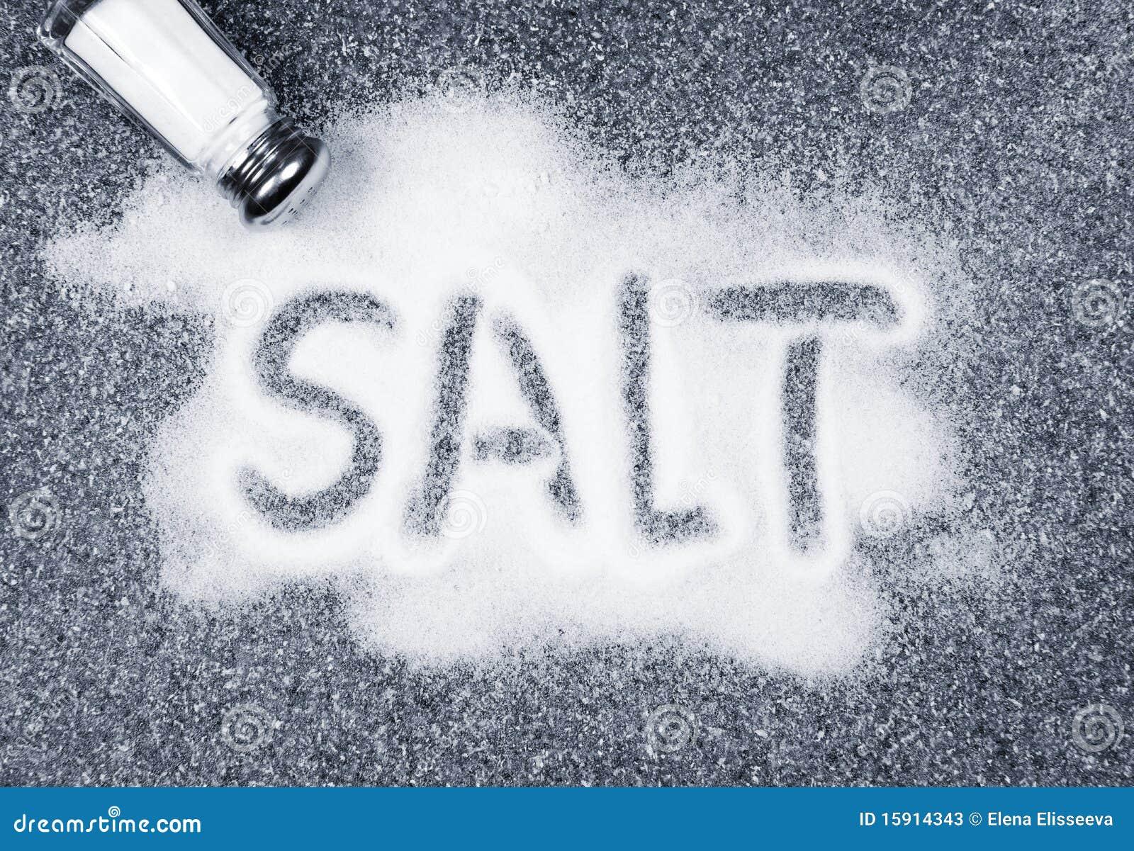 Salt spilled from shaker