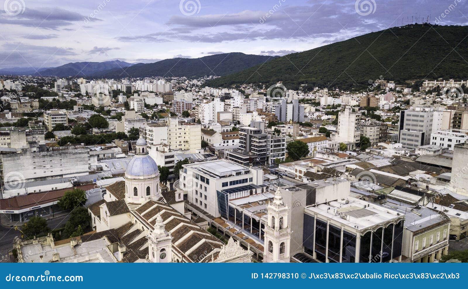 Salta/Salta/Argentina - 01 01 19: Archidiecezja Salto Ozdobna katedra xix wiek Argentyna