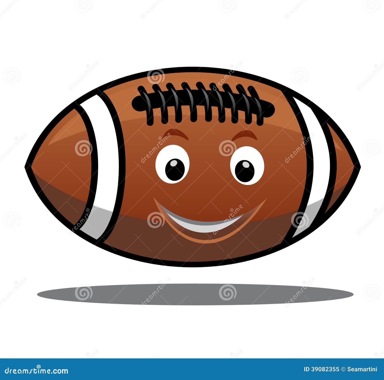 212f5afe3 Saltando A Bola Do Futebol Americano Ilustração do Vetor ...