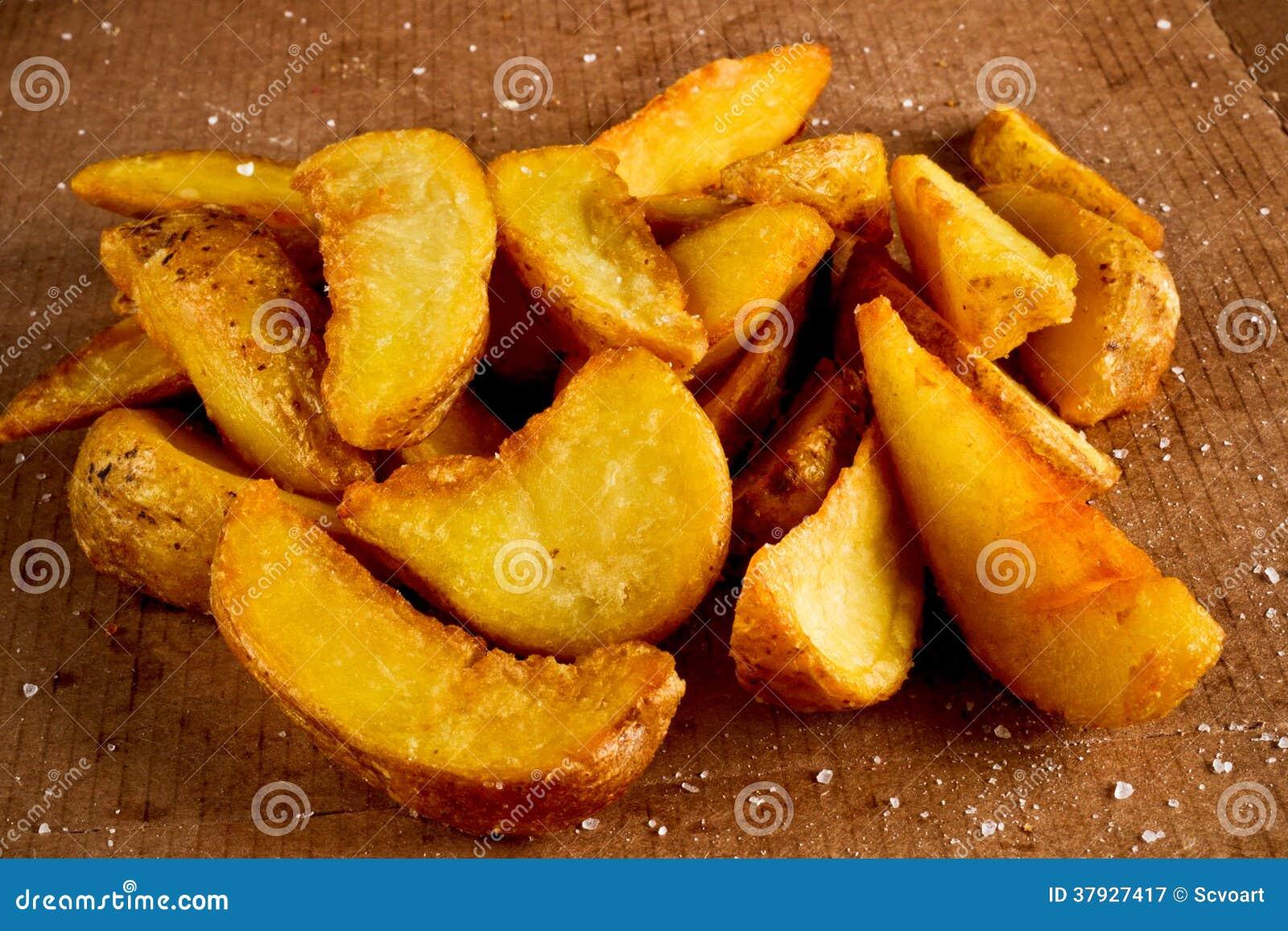 Salted зажарил картошку