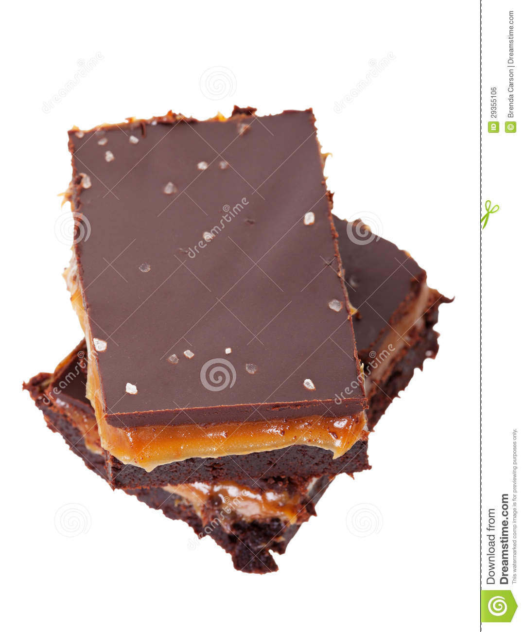 Salted Chocolate Caramel Brownies Royalty Free Stock Image - Image ...