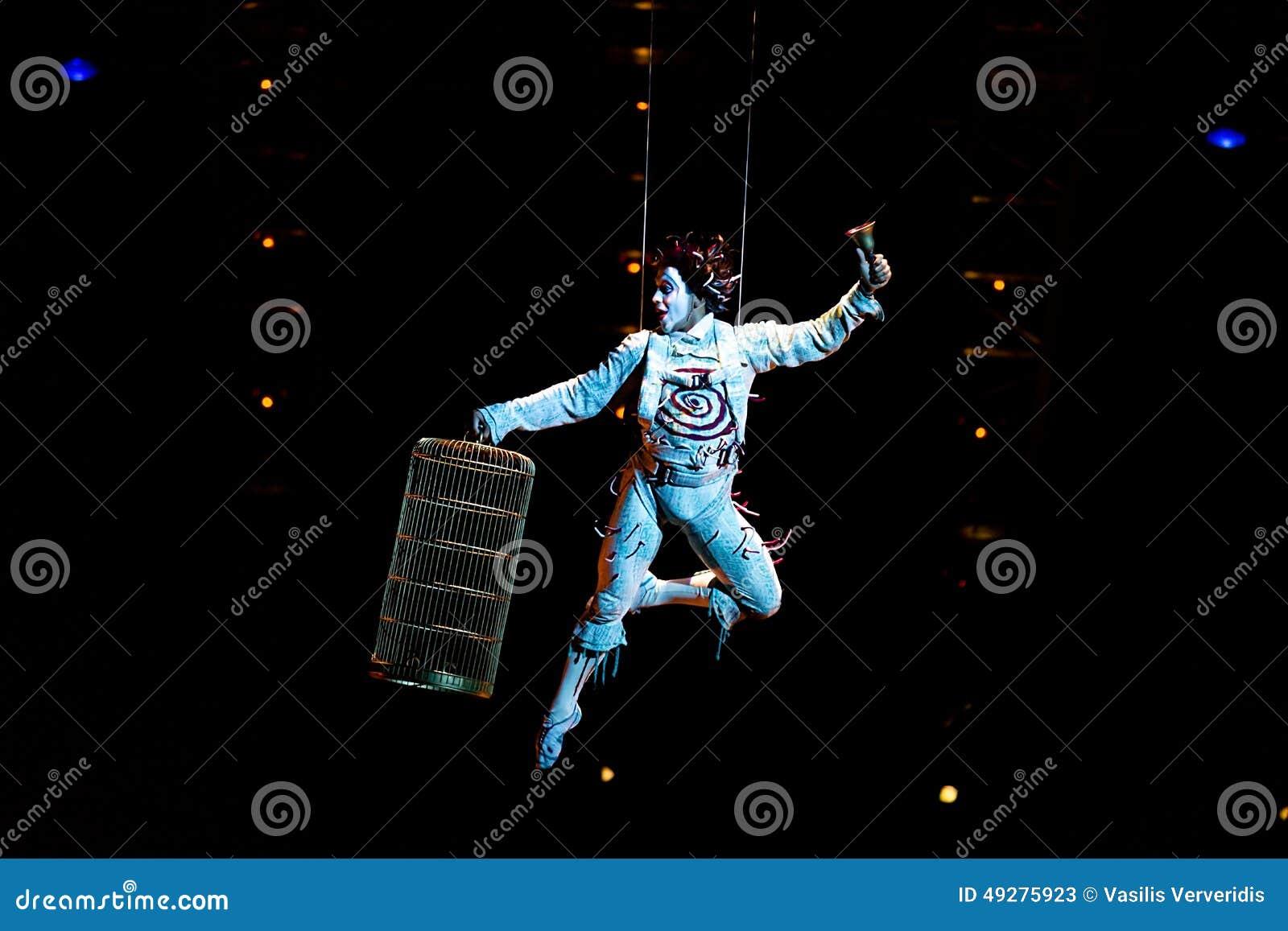 Salto della corda degli esecutori alla manifestazione  Quidam  di Cirque du Soleil