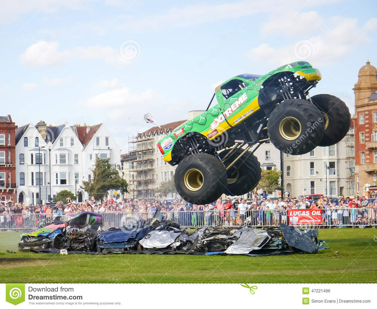 Salto do monster truck