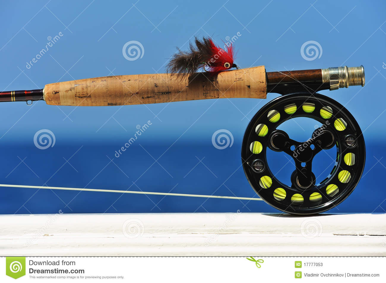 Saltwater fly fishing tackle stock photos image 17777053 for Saltwater fishing supplies