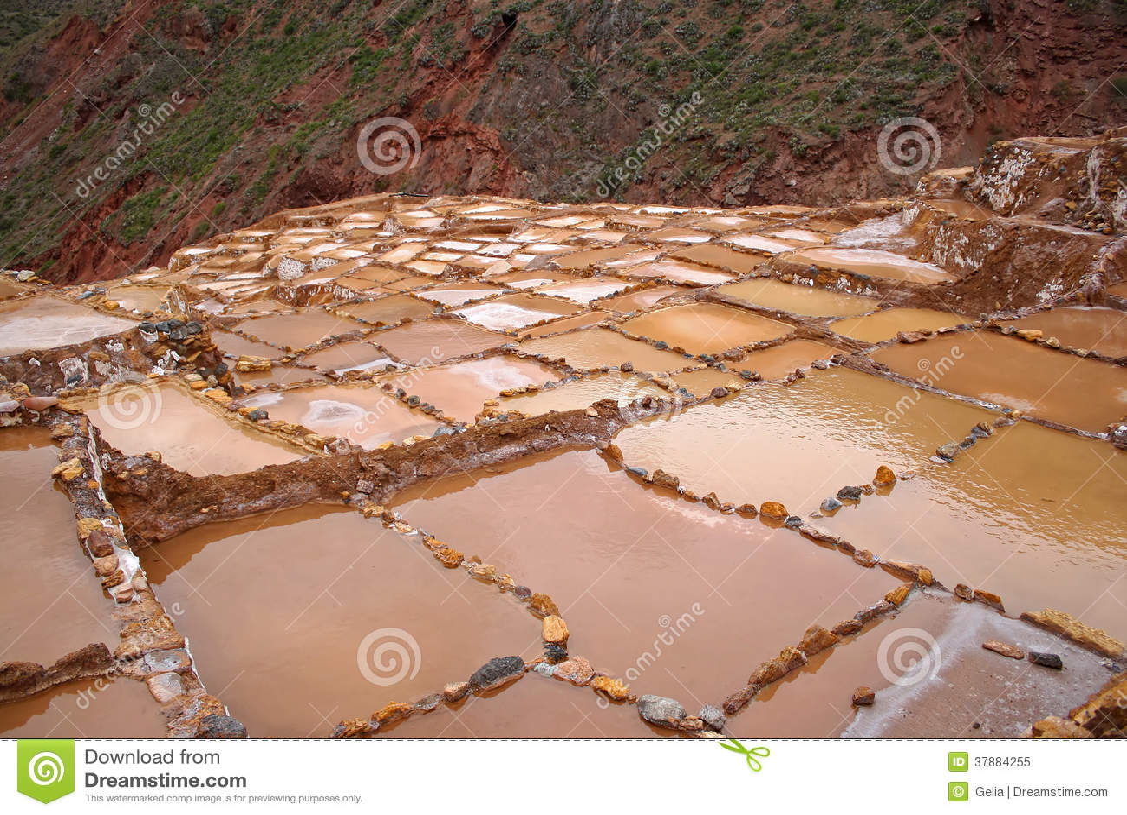 Saltworks in Maras, Peru